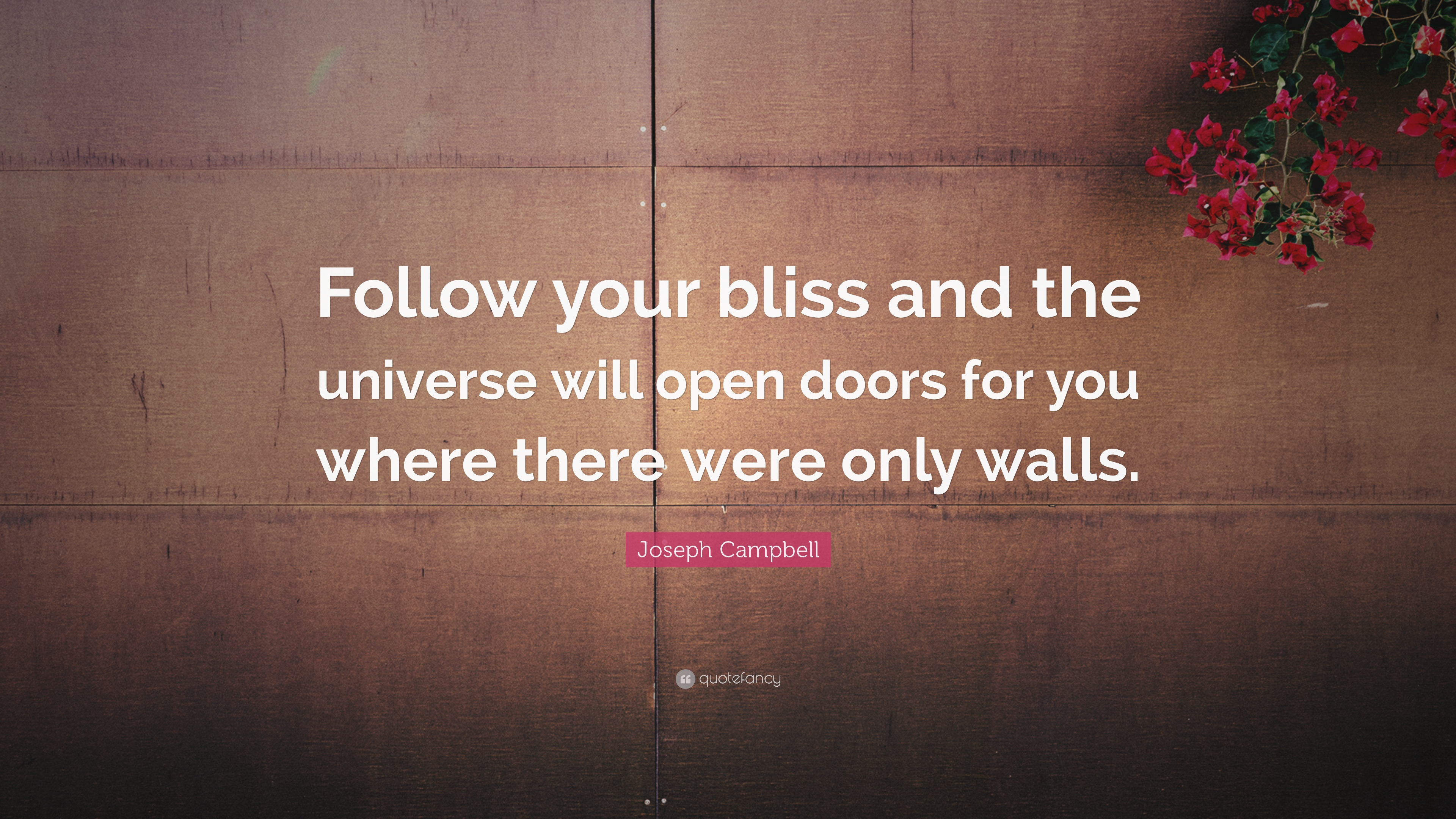 """Quotes About Doors Joseph Campbell Quote """"Follow Your Bliss And The Universe Will"""