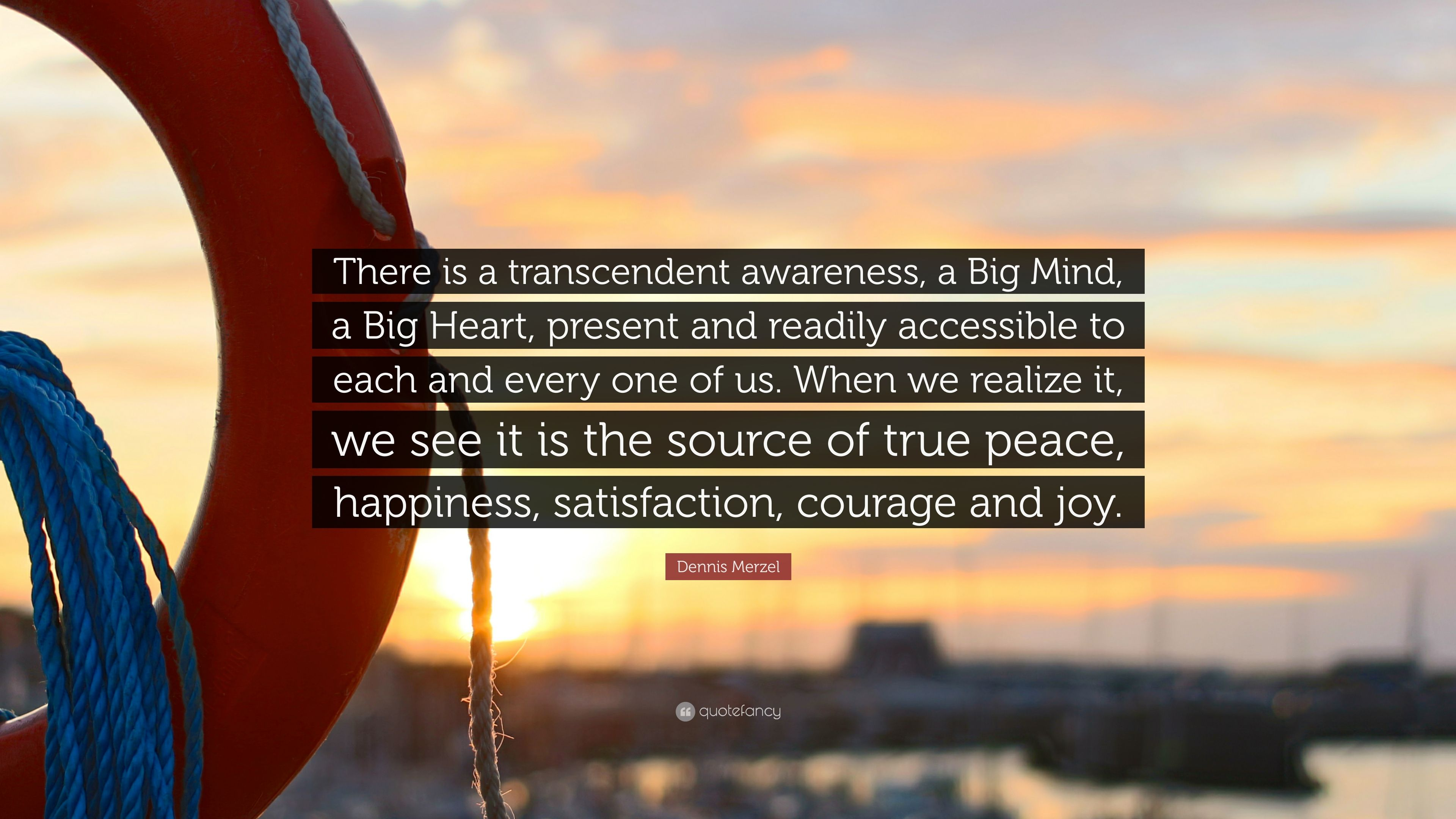 Dennis Merzel Quote There Is A Transcendent Awareness A Big Mind