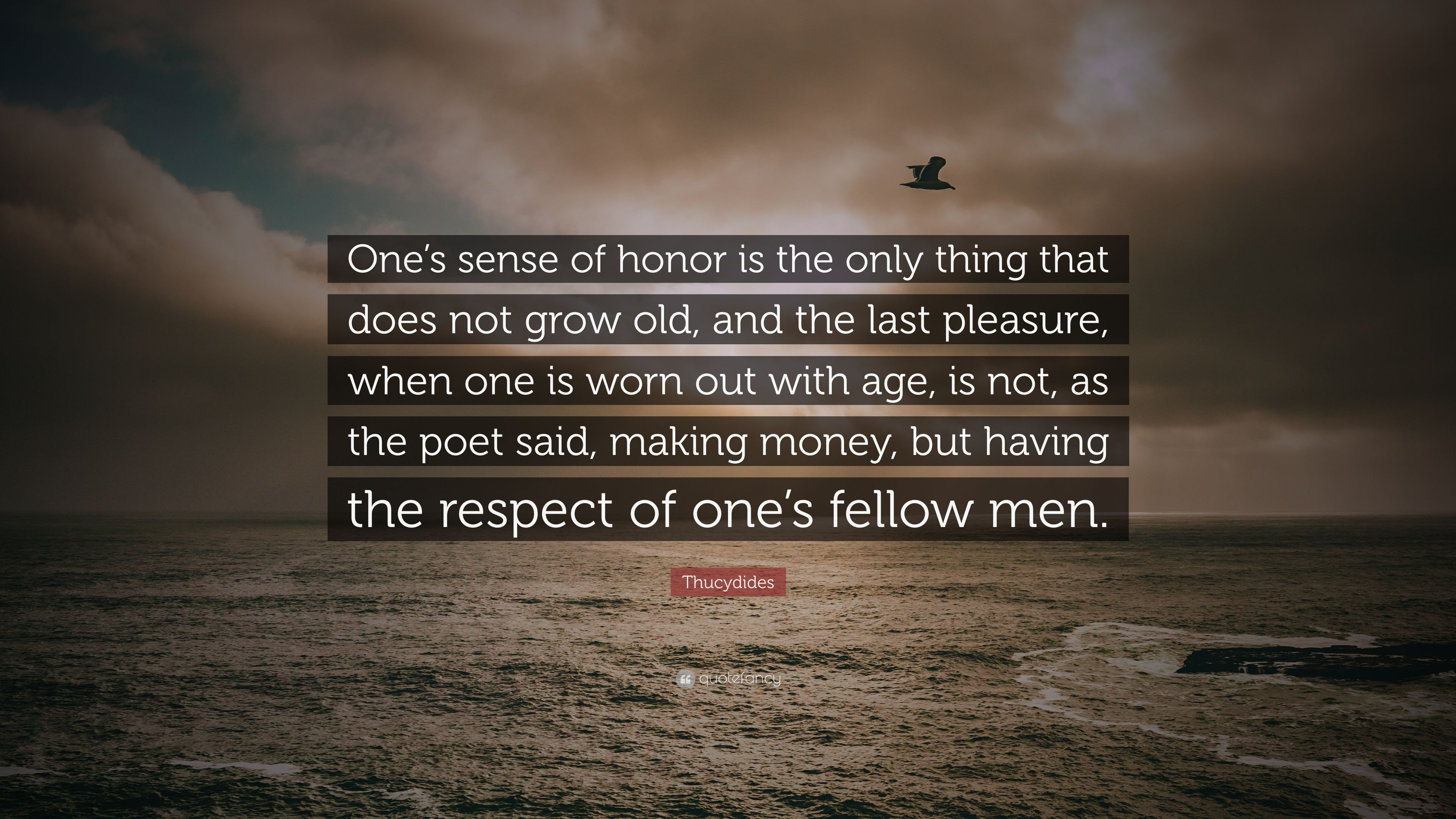 a sense of honor