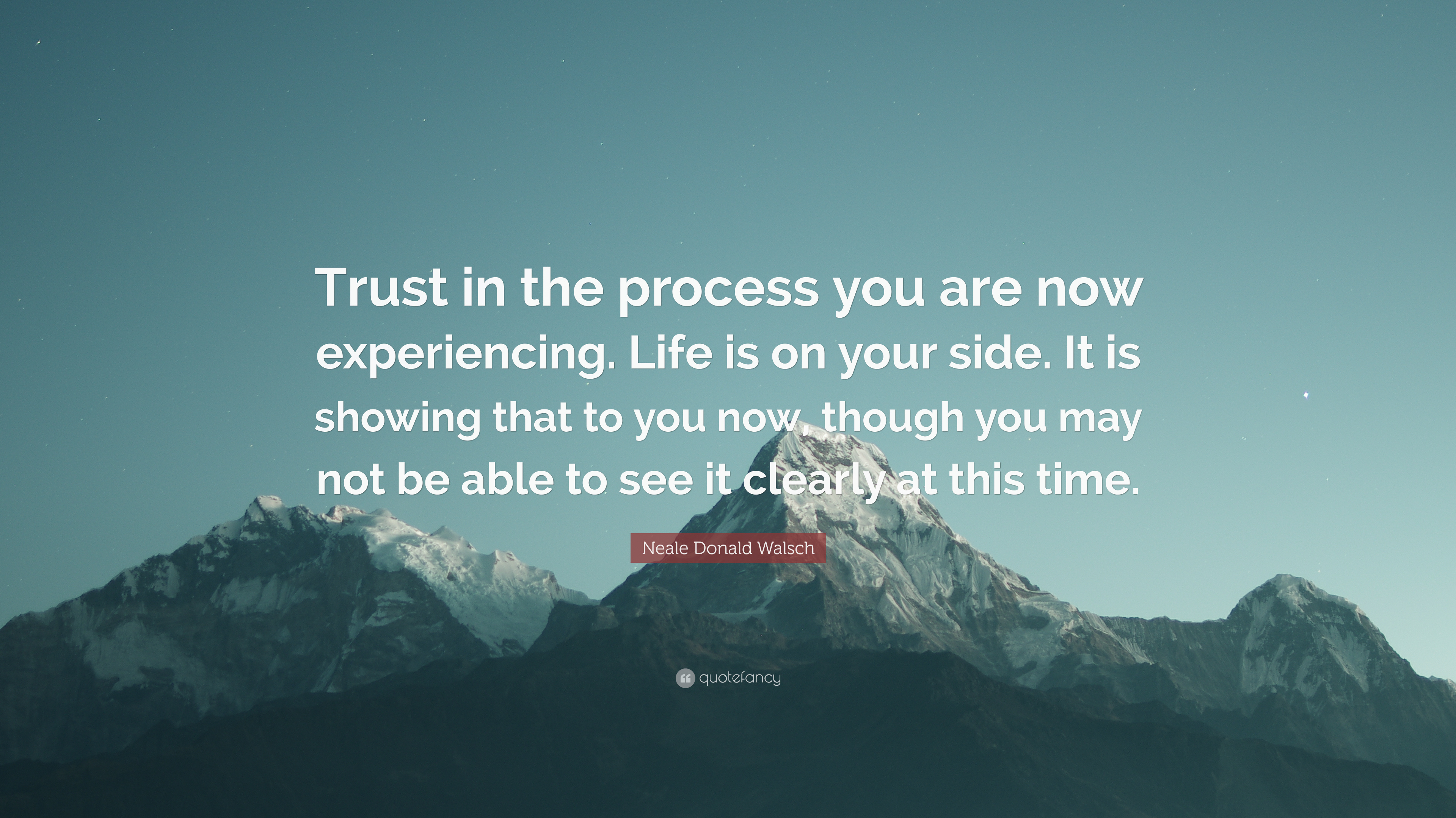 Neale Donald Walsch Quote Trust In The Process You Are Now