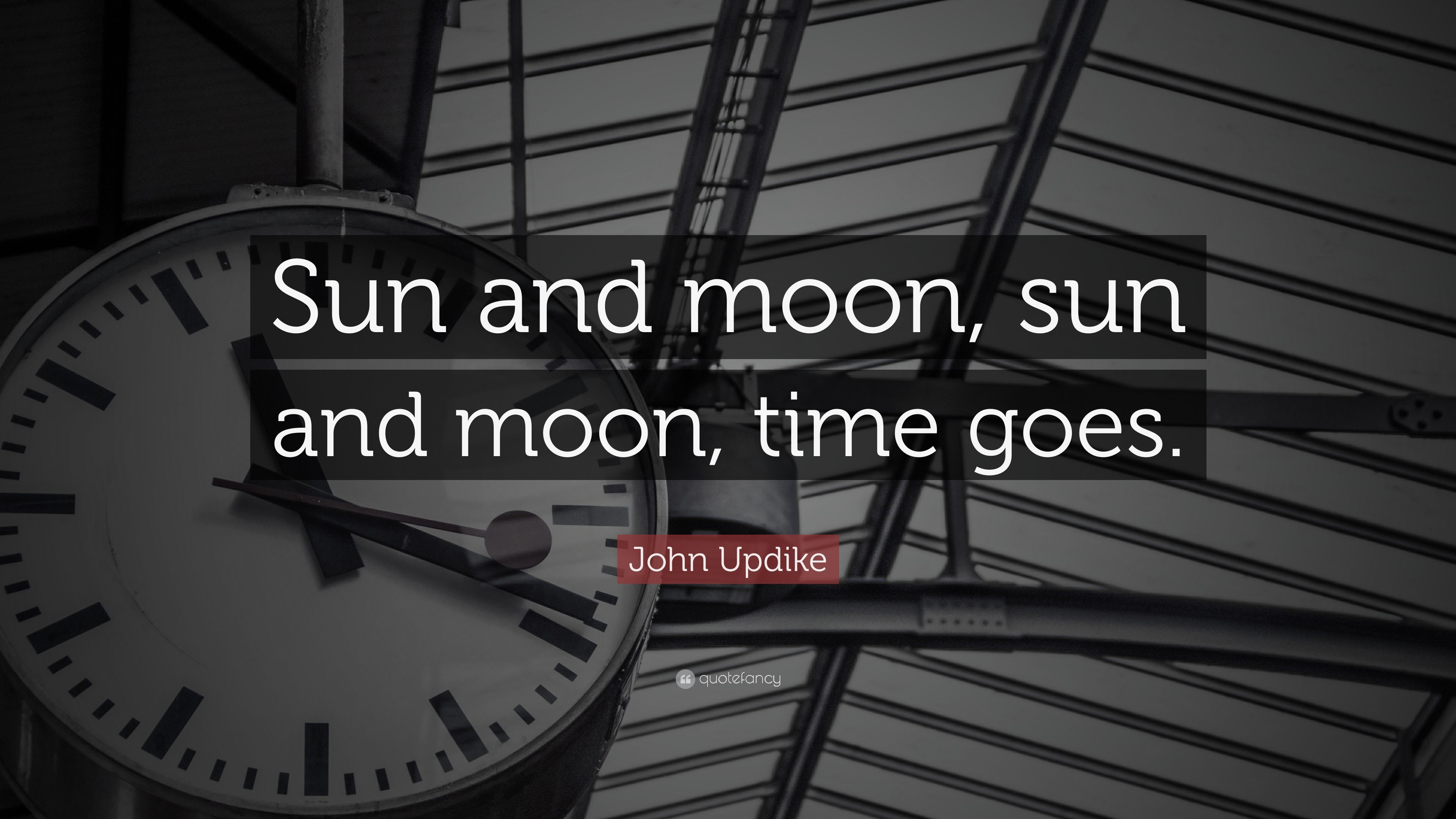 "Sun And Moon Quotes John Updike Quote ""Sun And Moon Sun And Moon Time Goes."" 6"