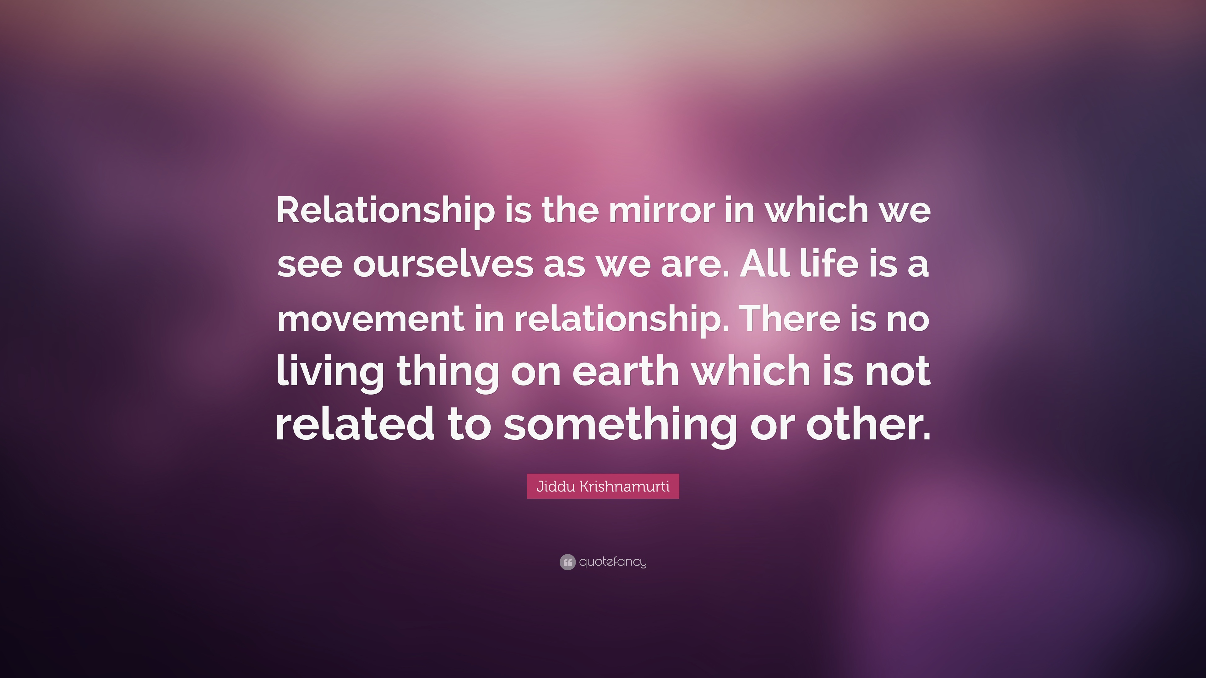 "Jiddu Krishnamurti Quote: ""Relationship is the mirror in ..."