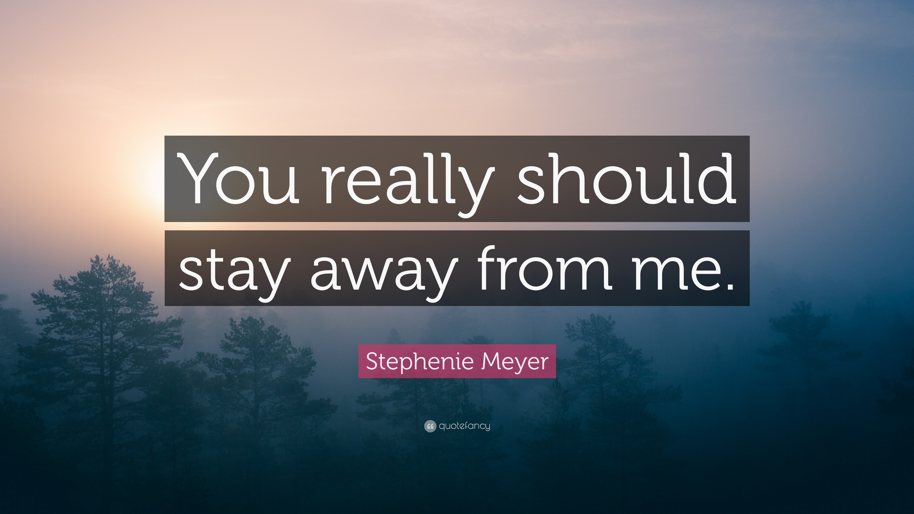 Stephenie Meyer Quote You Really Should Stay Away From Me 6