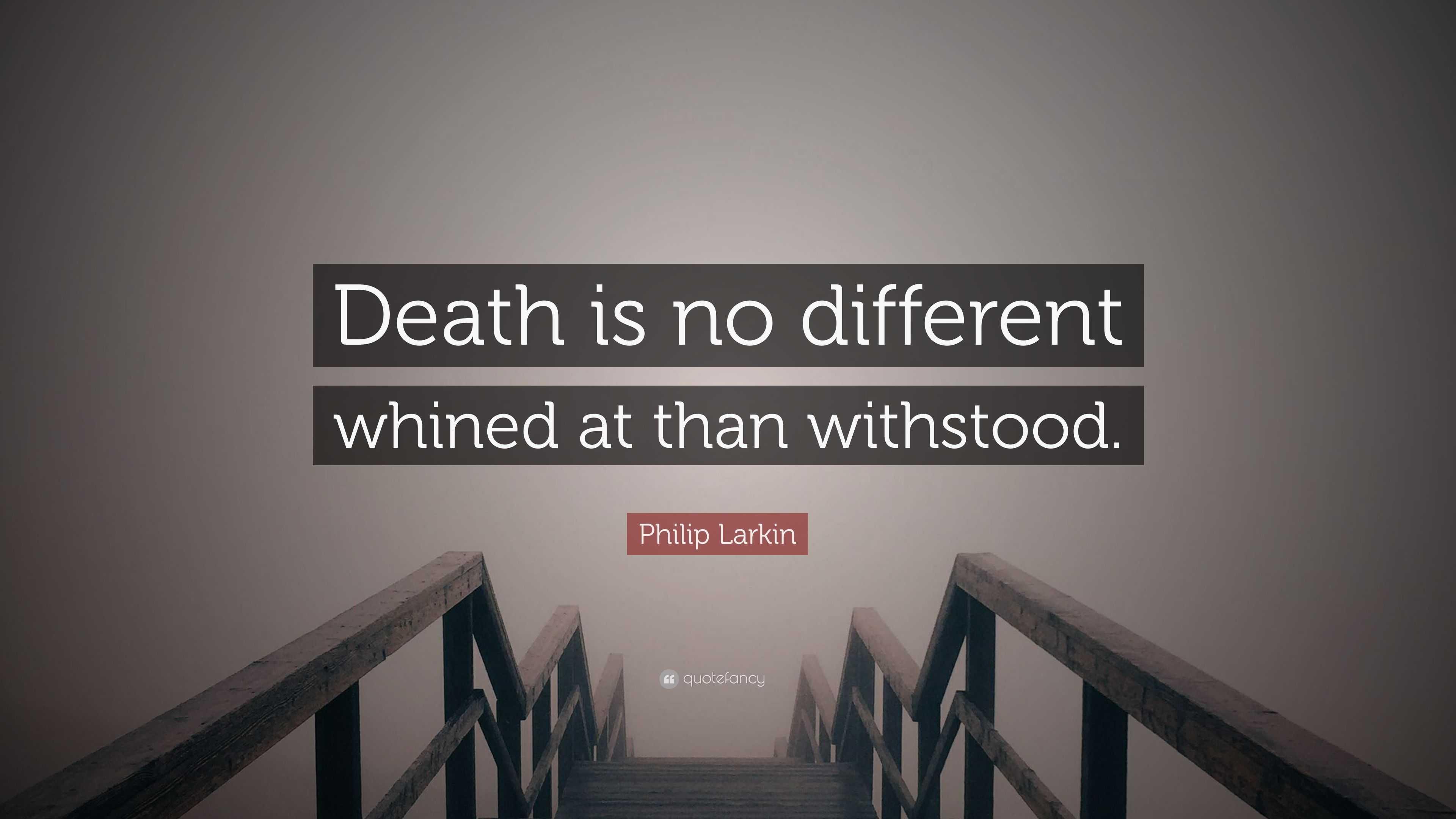 philip larkin on death