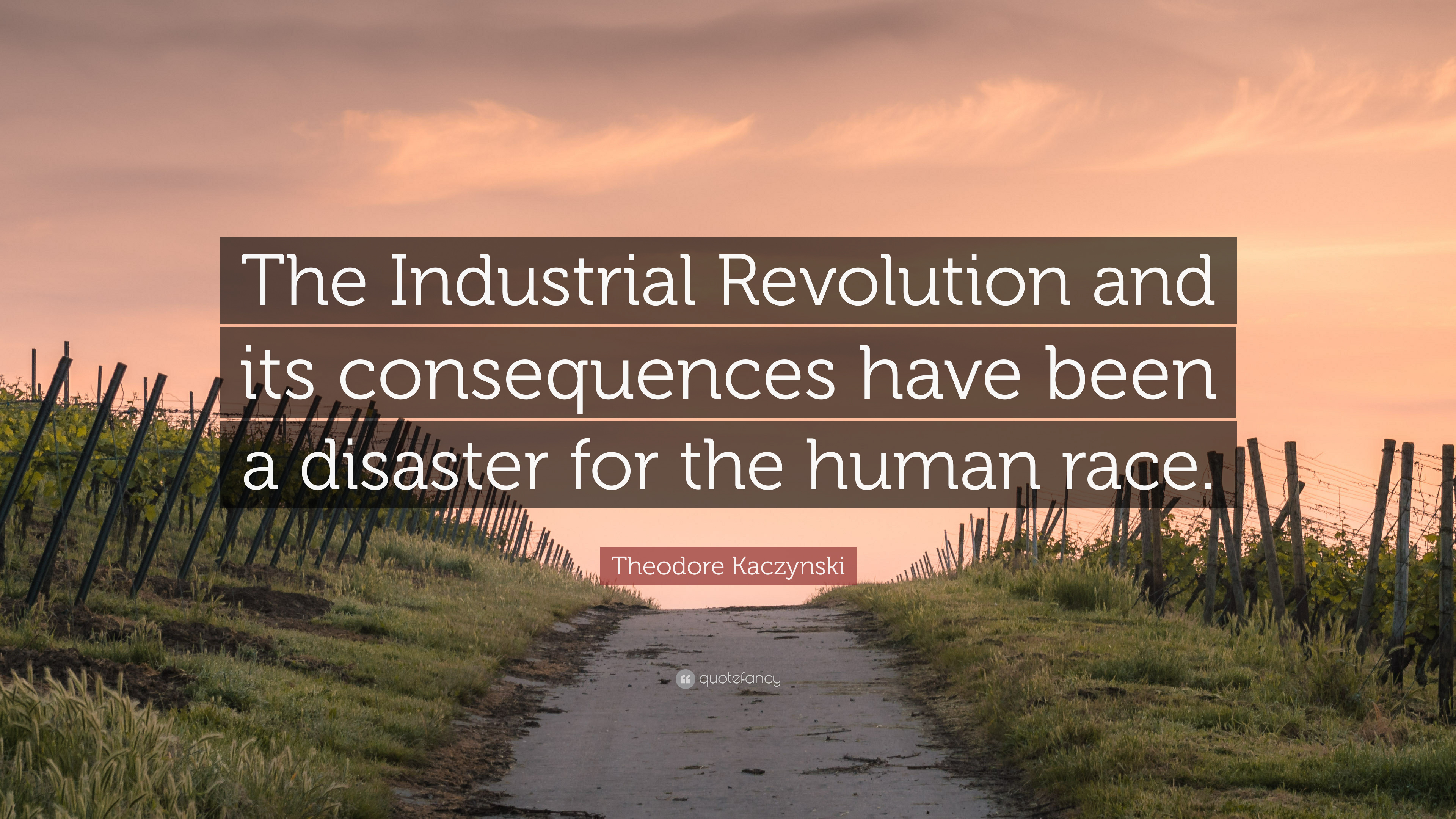 Theodore Kaczynski Quote The Industrial Revolution And Its