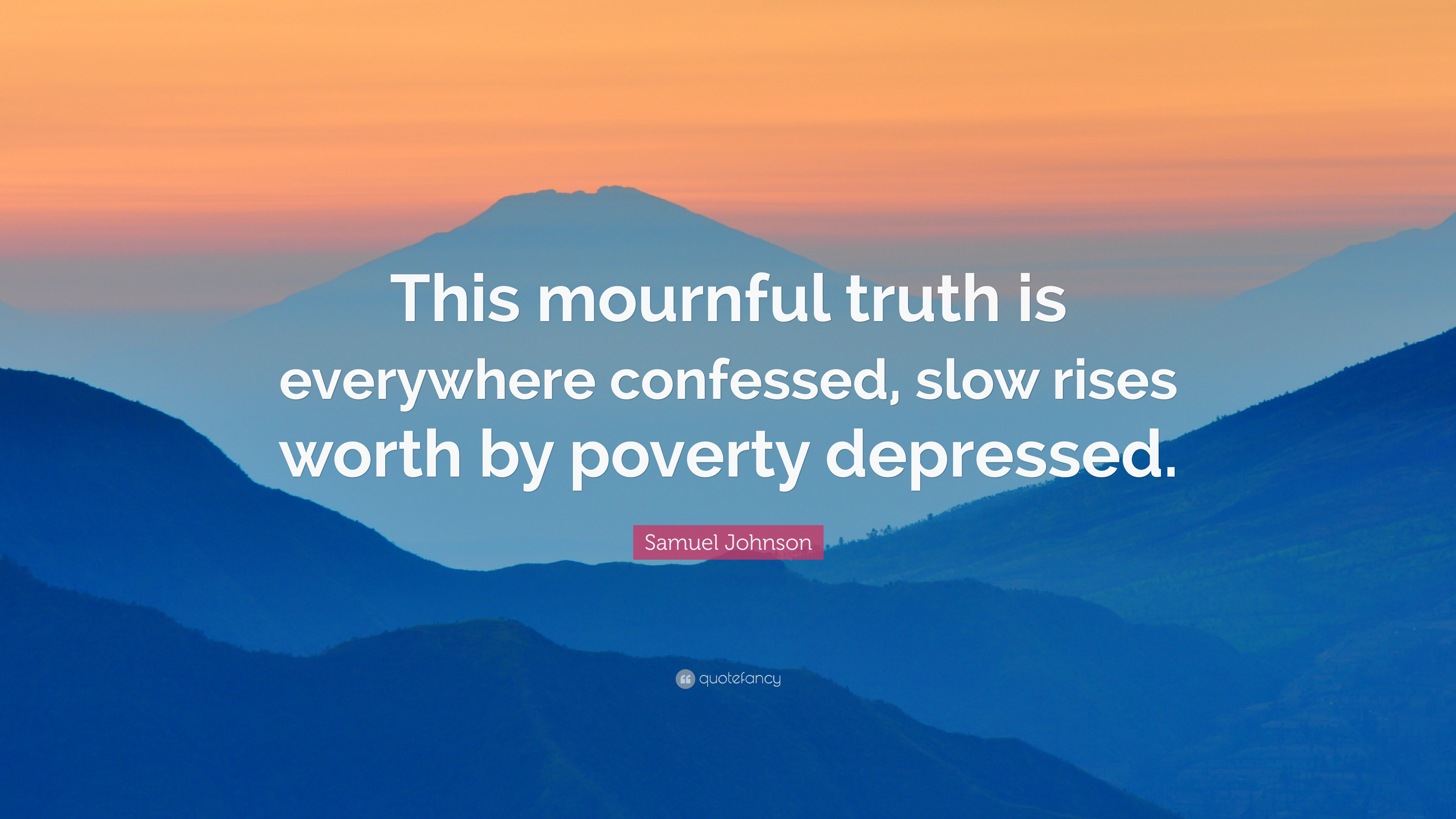 slow rises worth by poverty depressed