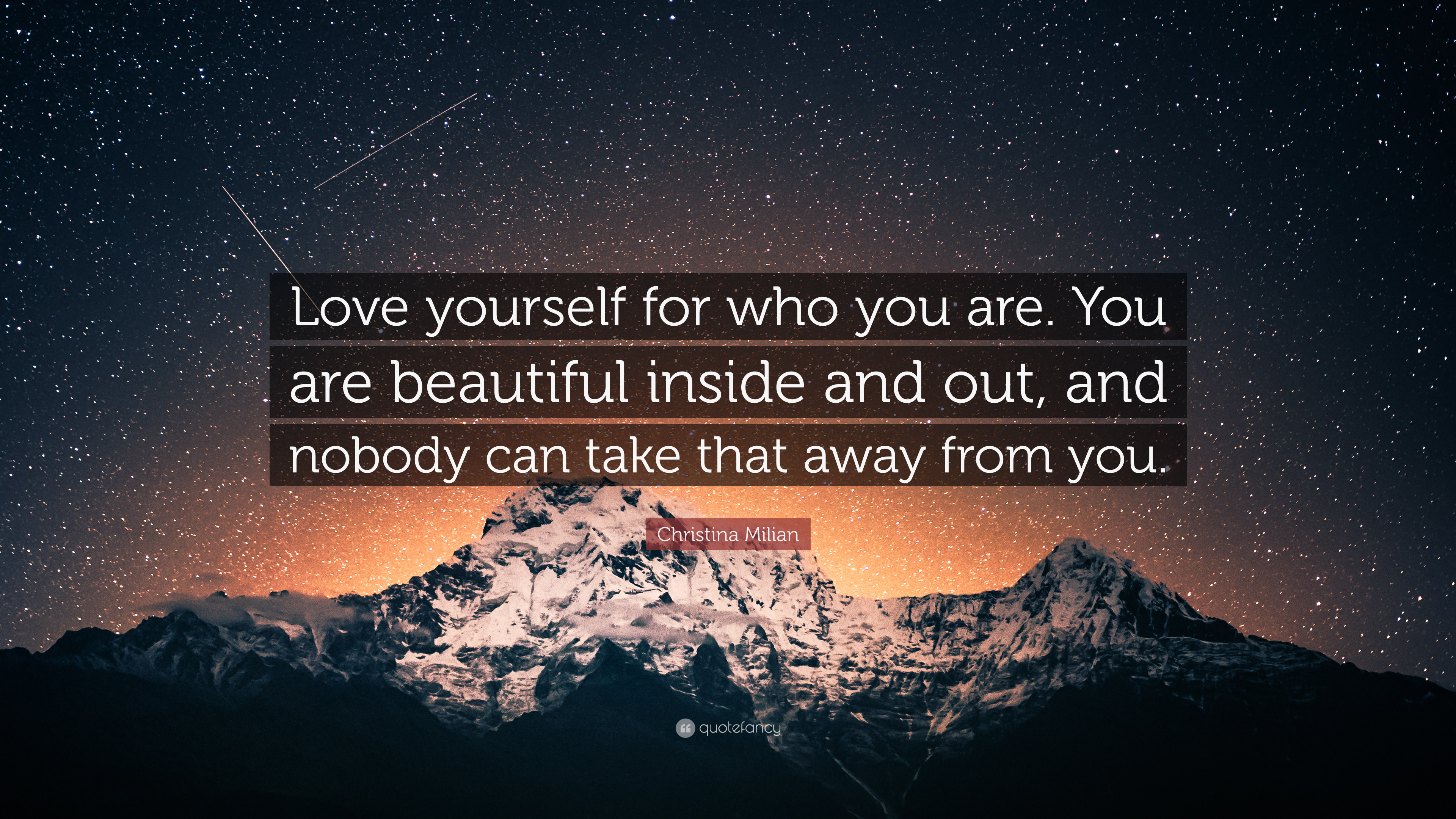 Christina Milian Quote Love Yourself For Who You Are You Are