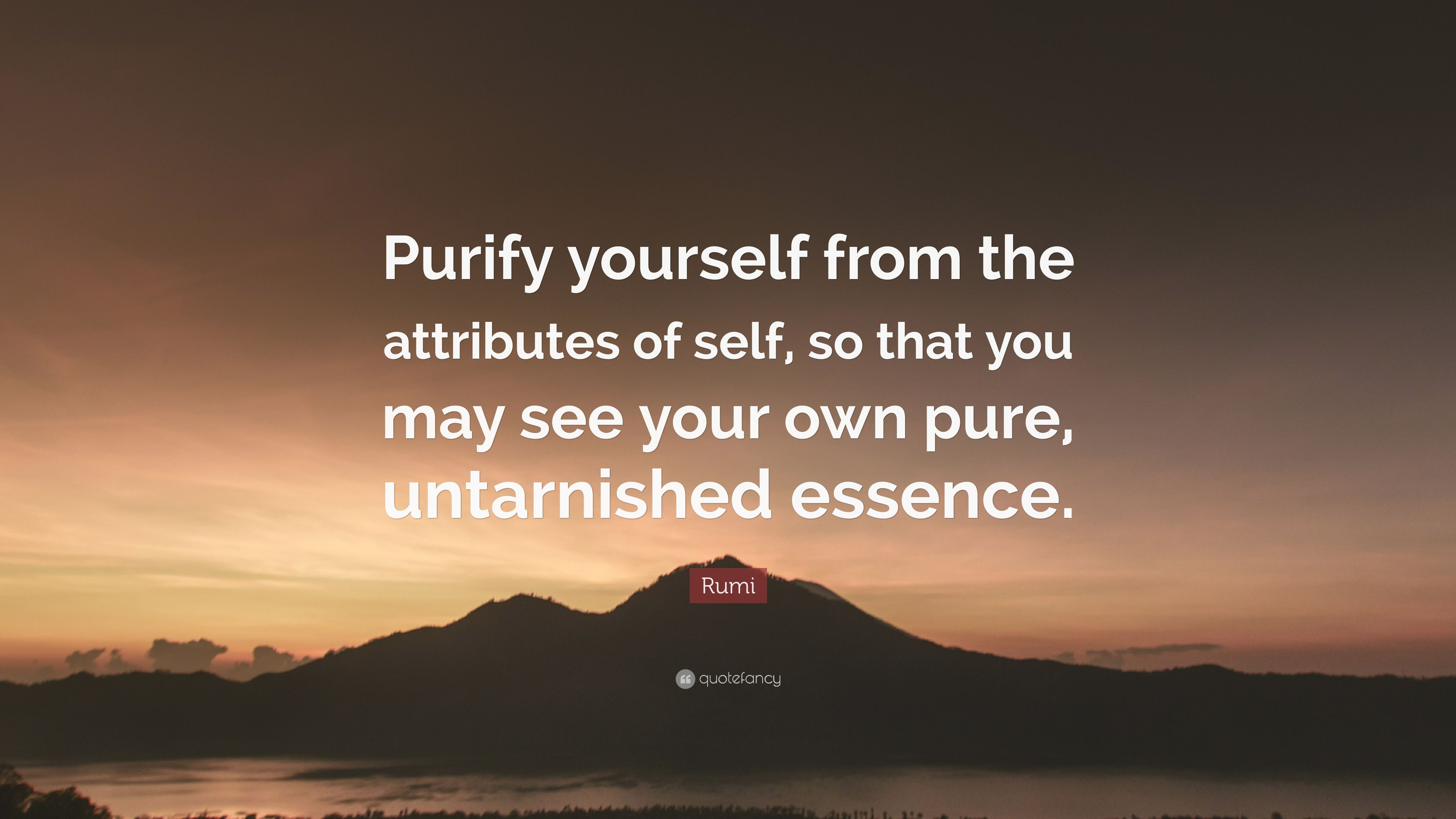 Rumi Quote Purify Yourself From The Attributes Of Self So That