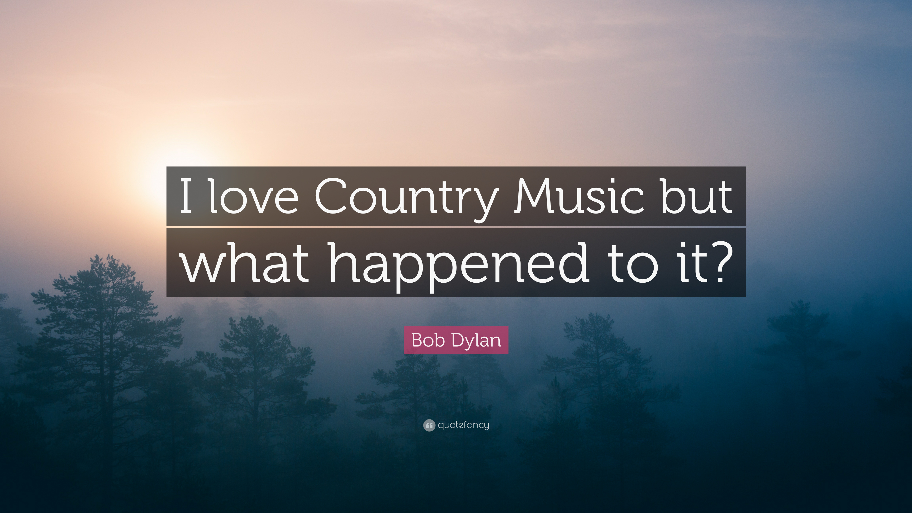 "Love Music Quotes Bob Dylan Quote ""I Love Country Music But What Happened To It"