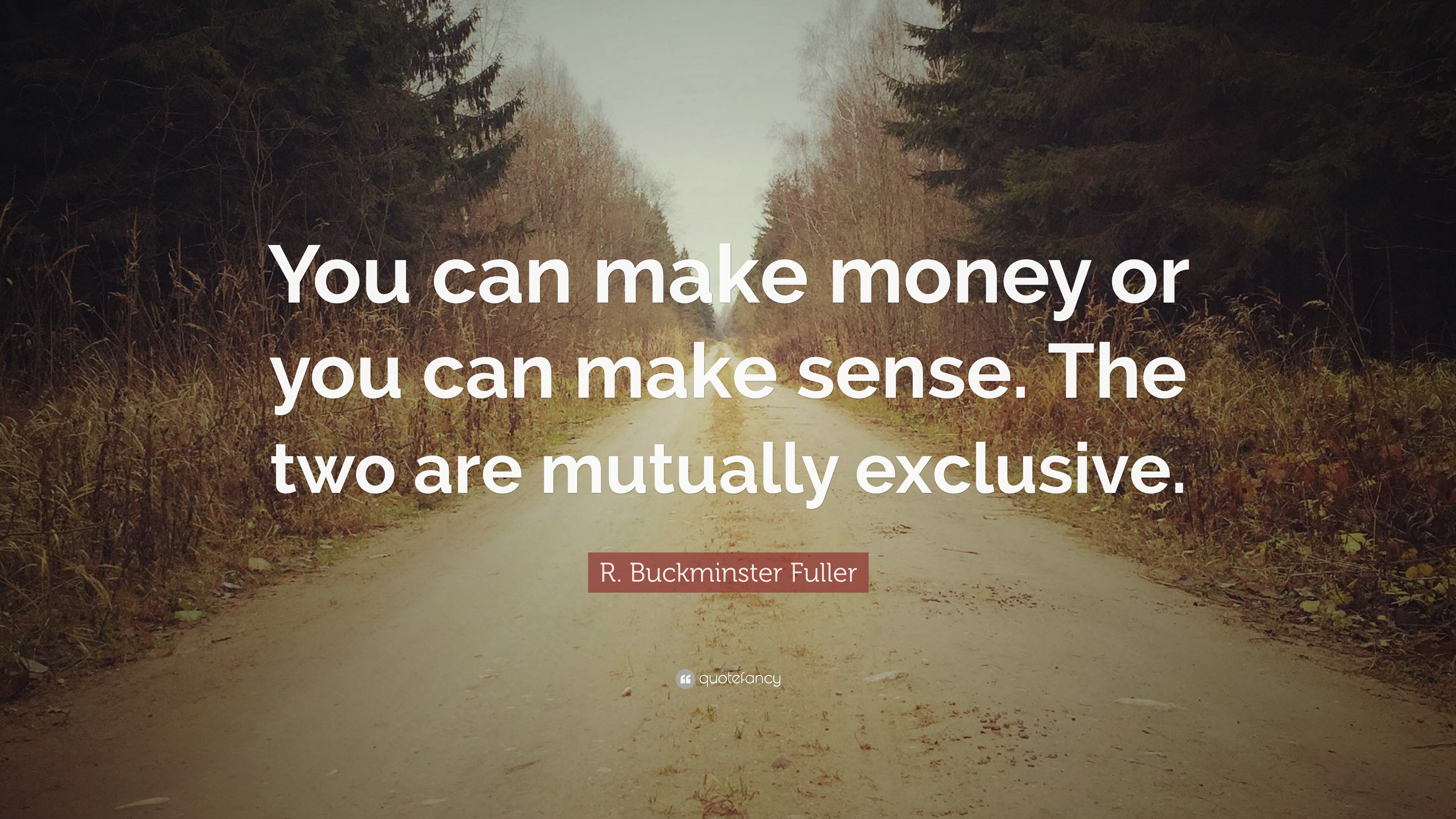 "R. Buckminster Fuller Quote: ""You Can Make Money Or You"