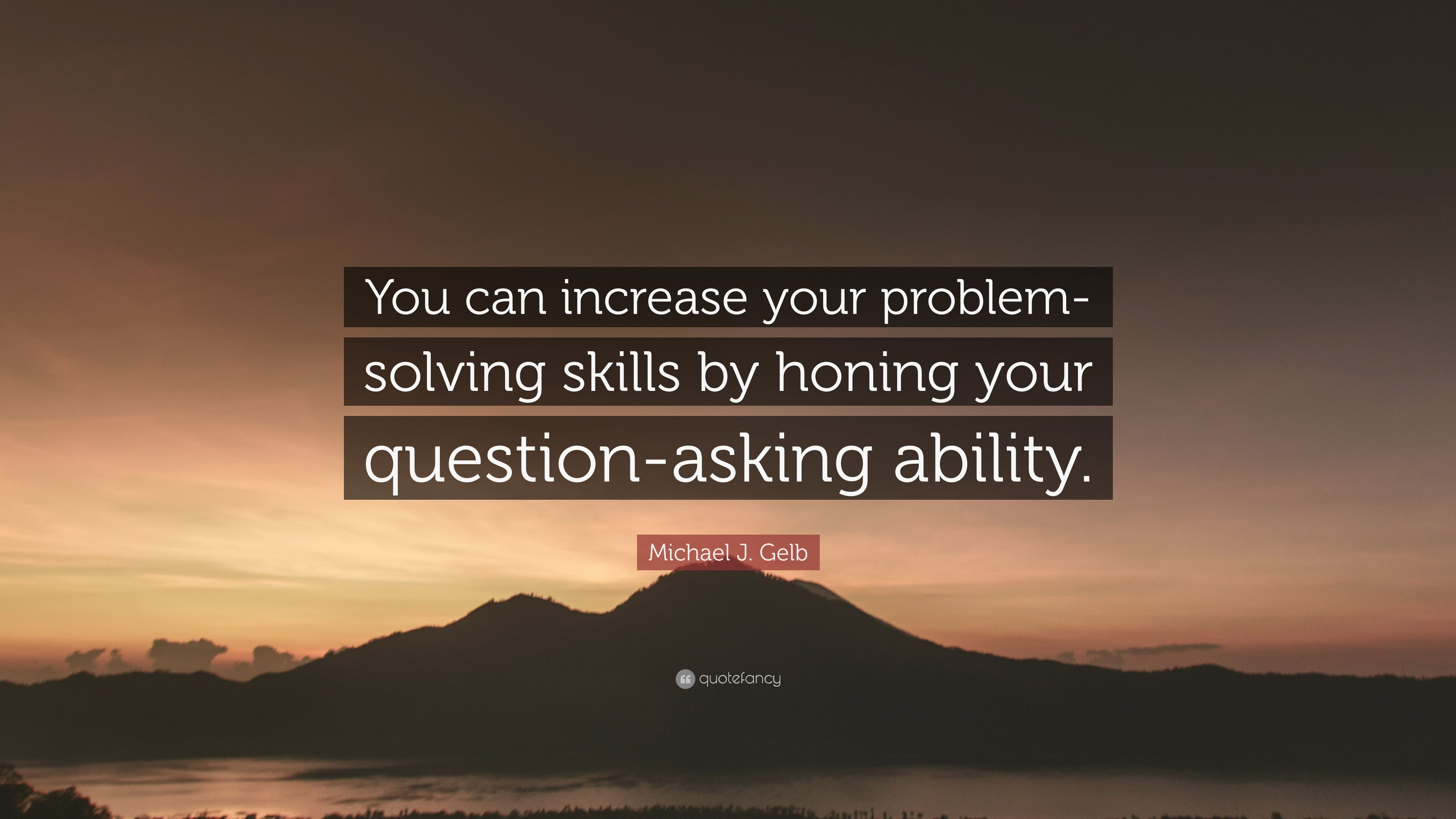 improve your problem solving skills