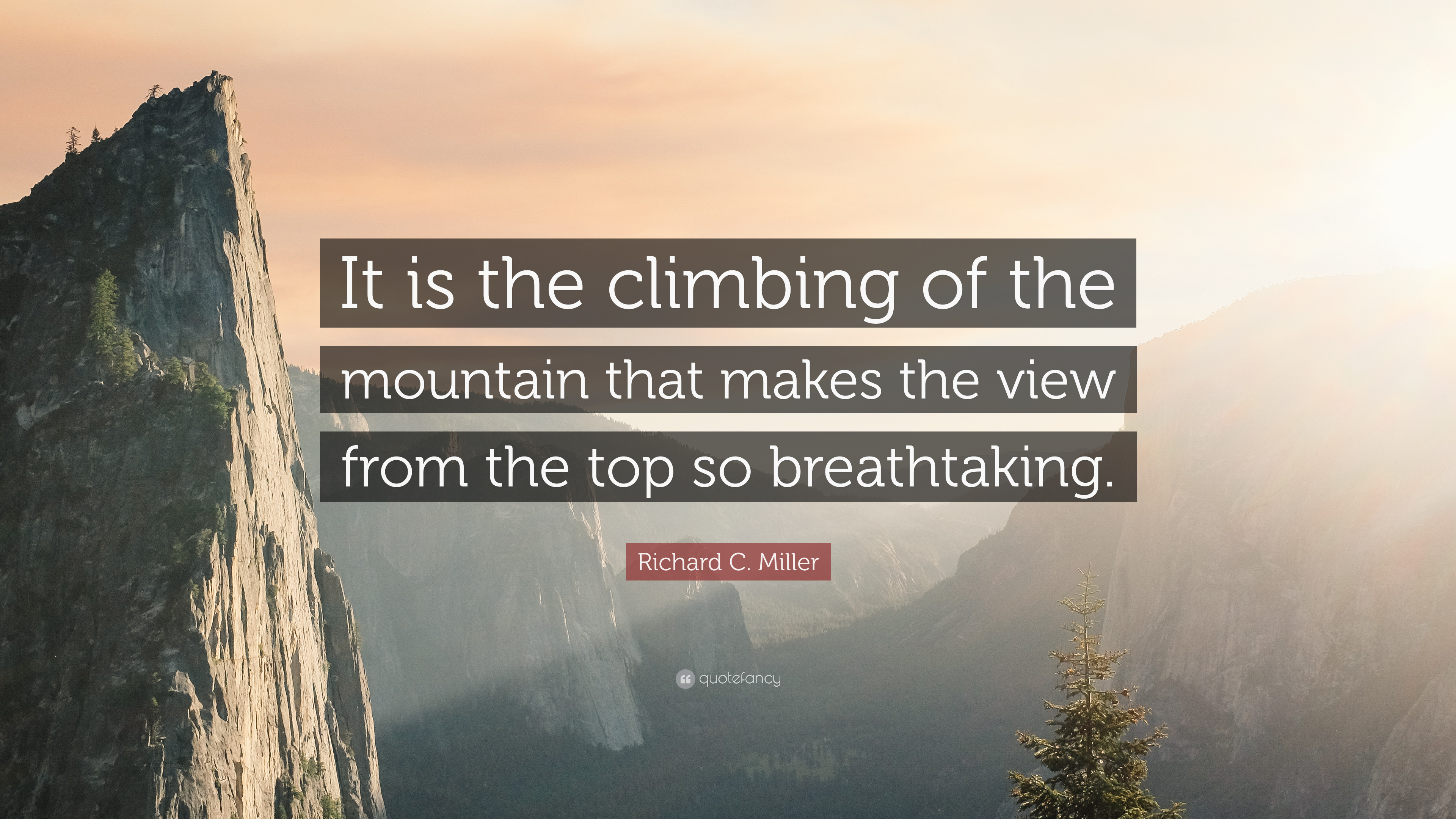 Richard C Miller Quote It Is The Climbing Of The Mountain That