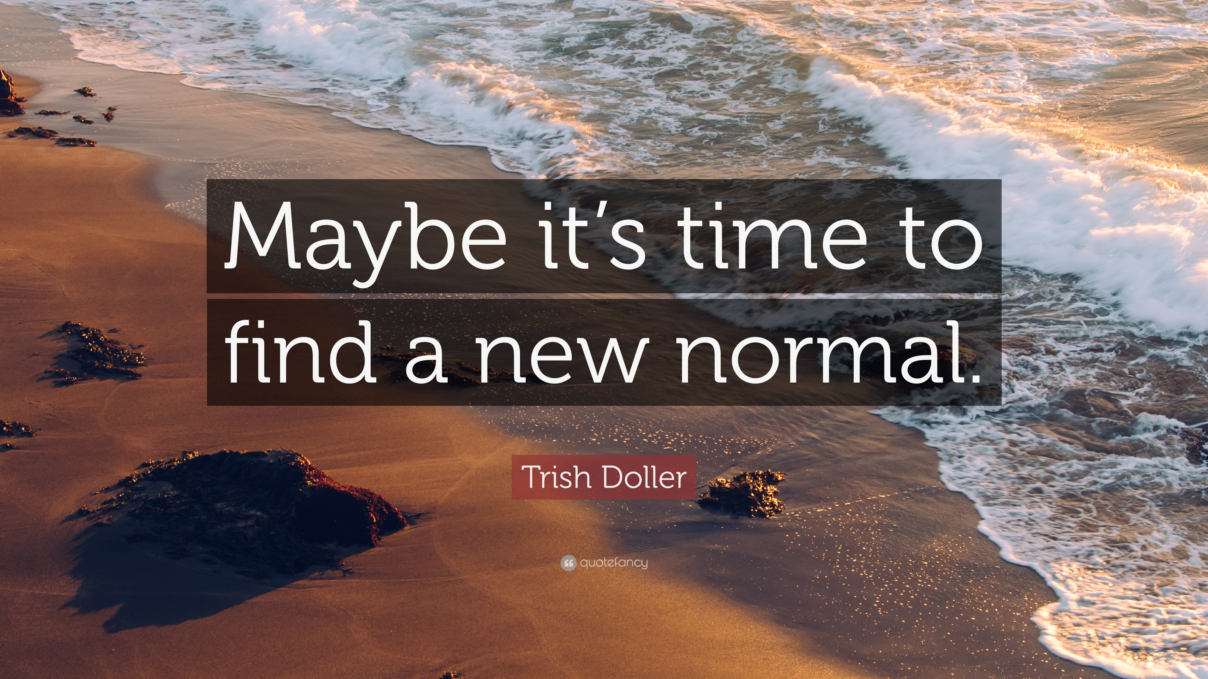Trish Doller Quote Maybe It S Time To Find A New Normal 10