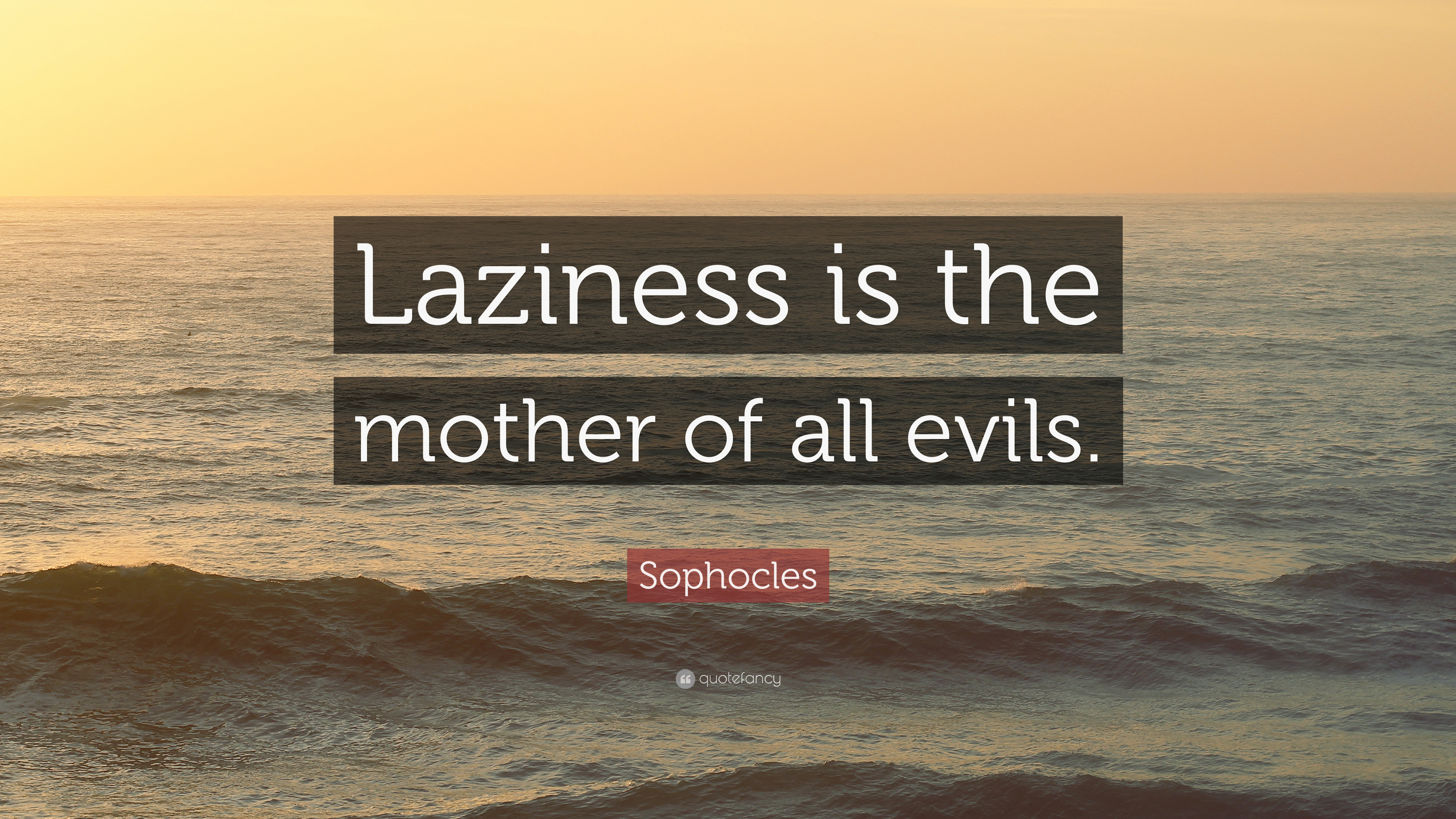 Laziness Is The Mother Of All Bad Habits