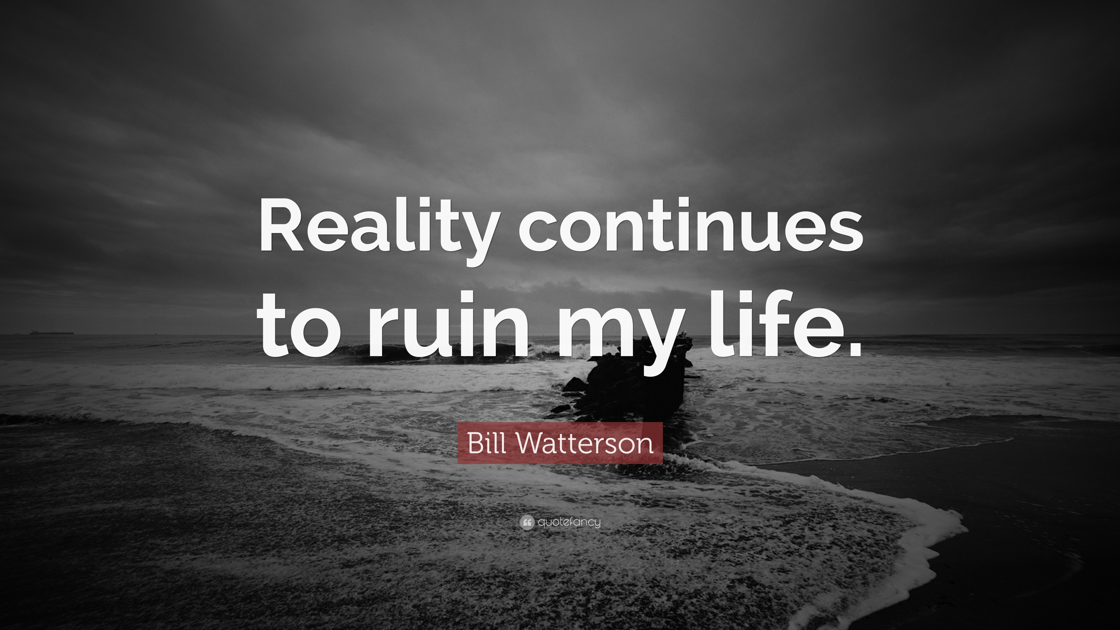 Bill Watterson Quote Reality Continues To Ruin My Life 15