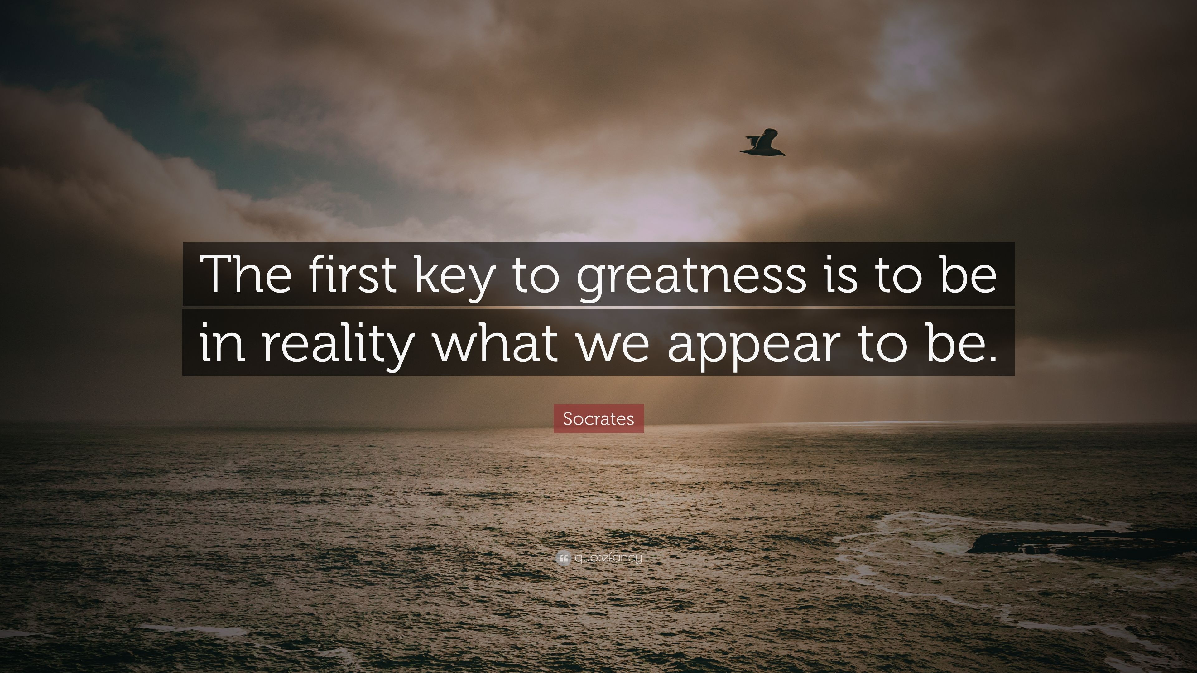the greatness of socrates The third man argument first appears in plato's dialogue parmenides (132a–b)  parmenides (speaking to socrates) uses the example of μέγεθος (mégethos  greatness).