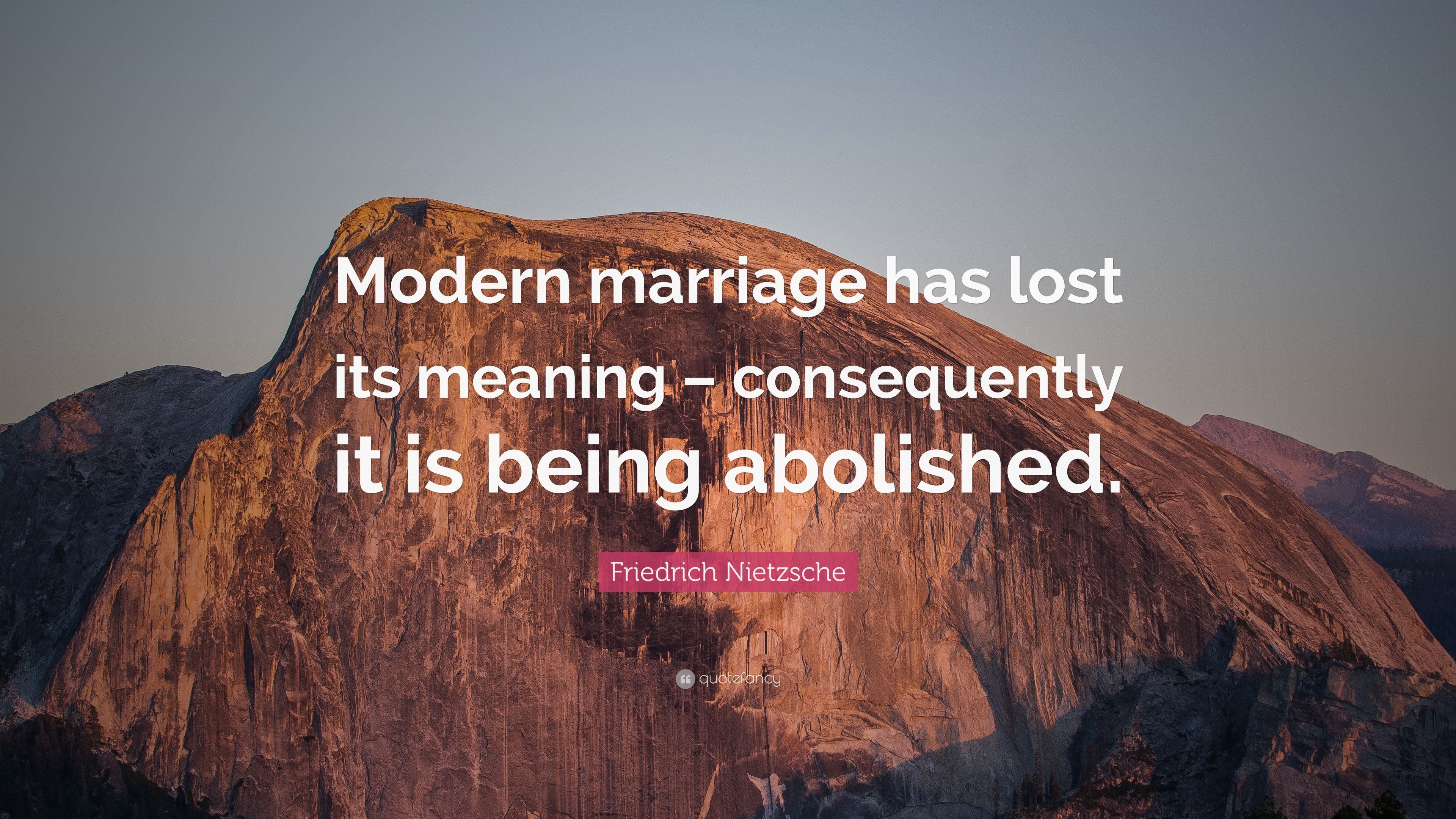 Delightful Friedrich Nietzsche Quote: U201cModern Marriage Has Lost Its Meaning U2013  Consequently It Is Being