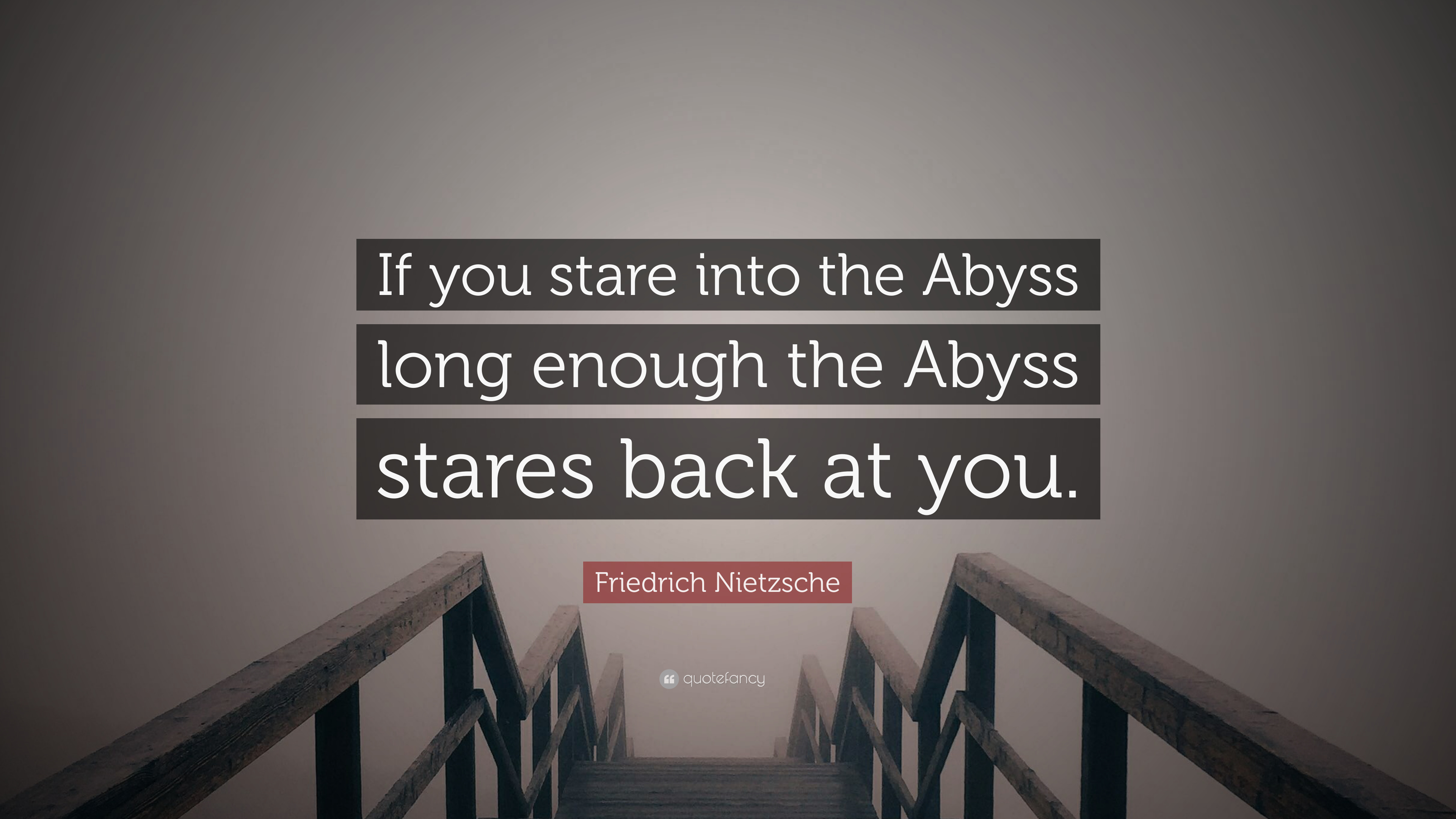 stare into the abyss quote