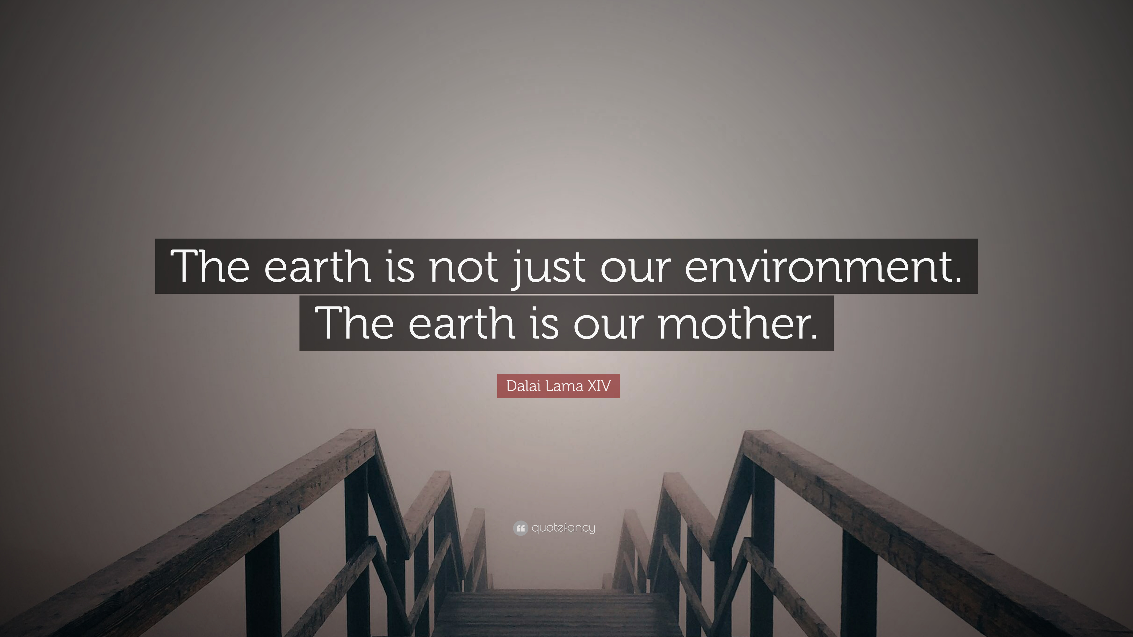 Dalai Lama Xiv Quote The Earth Is Not Just Our Environment The