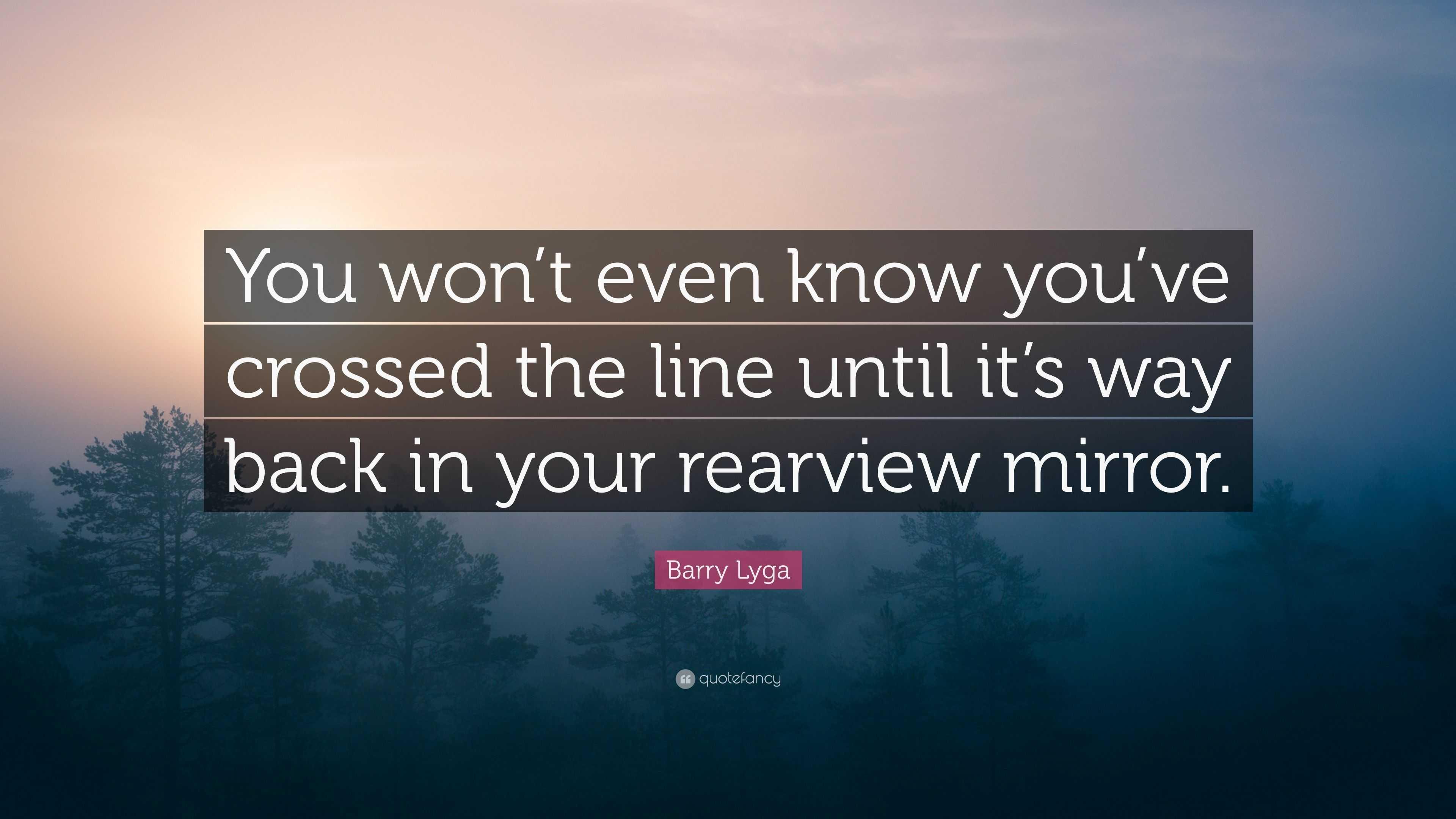 U crossed the line