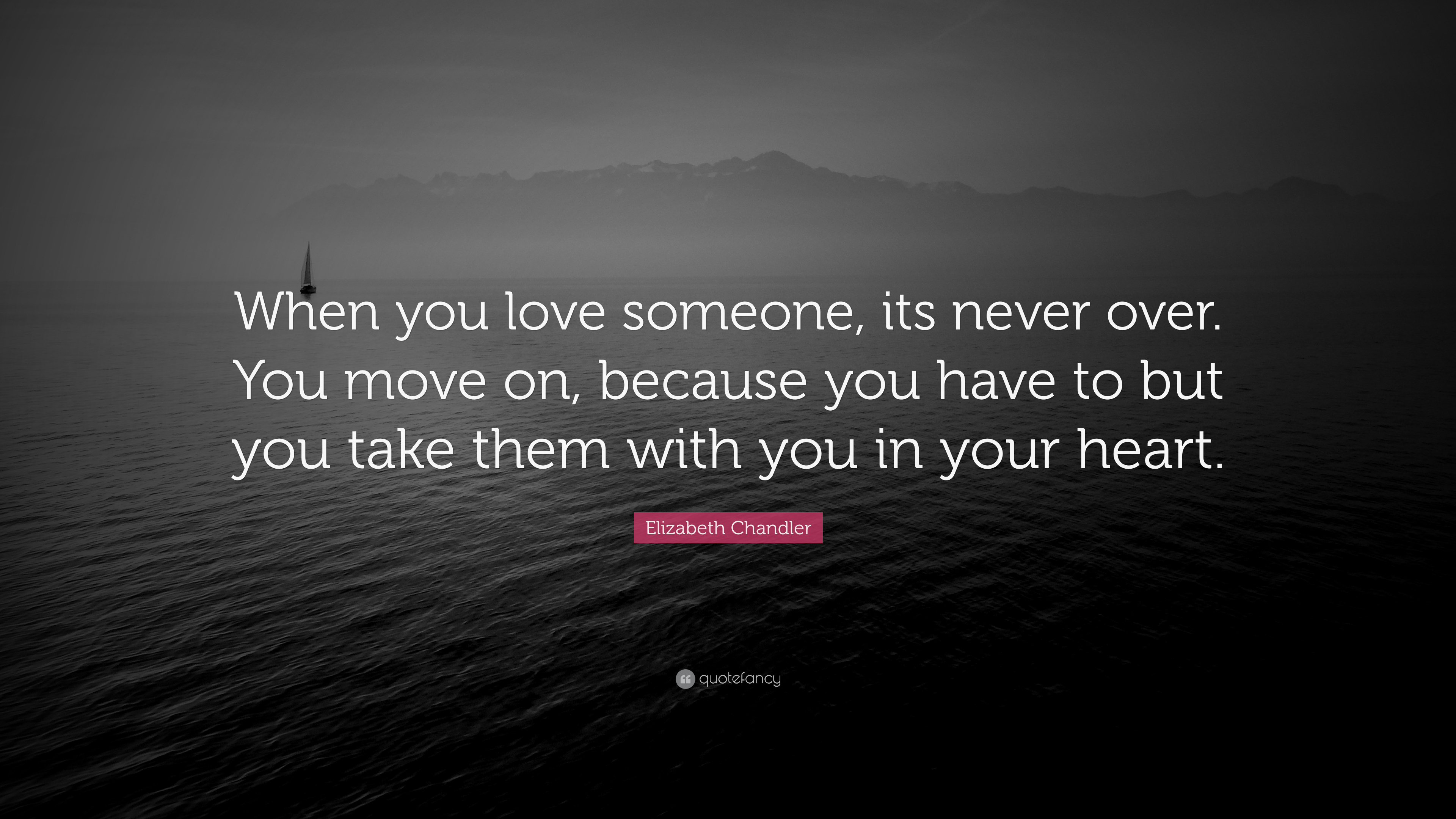 Elizabeth Chandler Quote: When you love someone, its