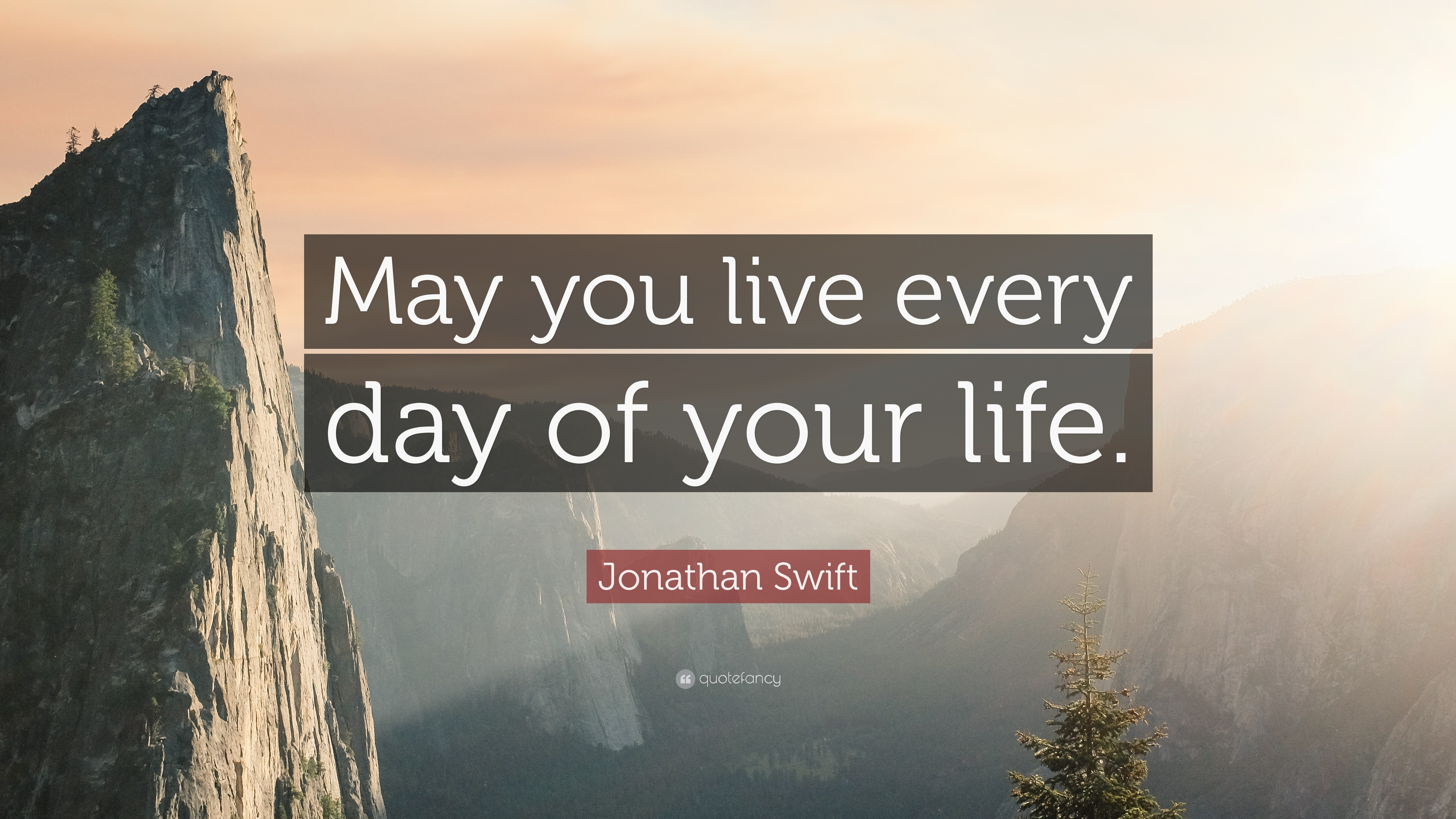 Jonathan Swift Quote May You Live Every Day Of Your Life 17