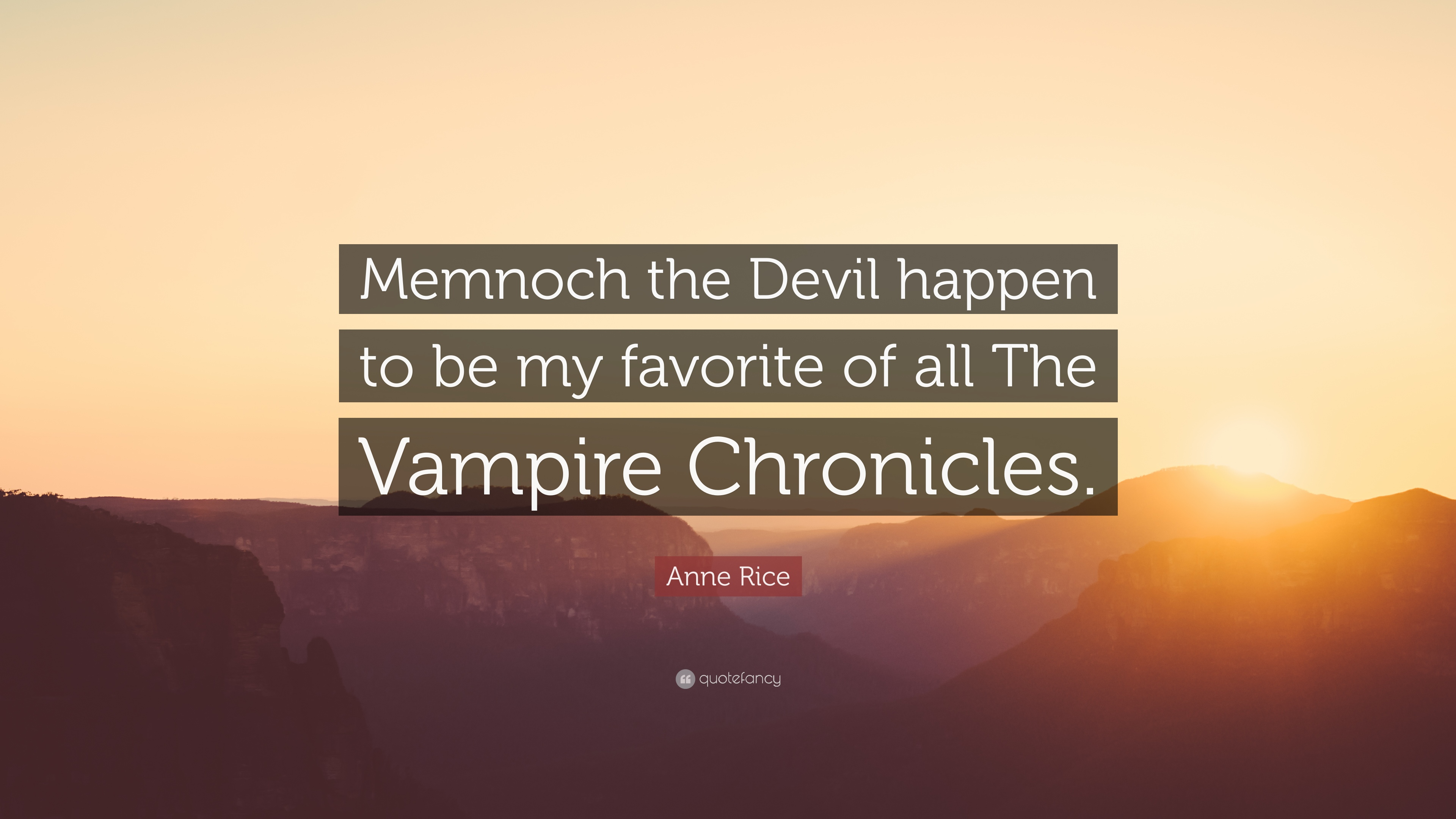 memnoch the devil by anne rice essay A review of the novel memnoch, the devil, by anne rice.