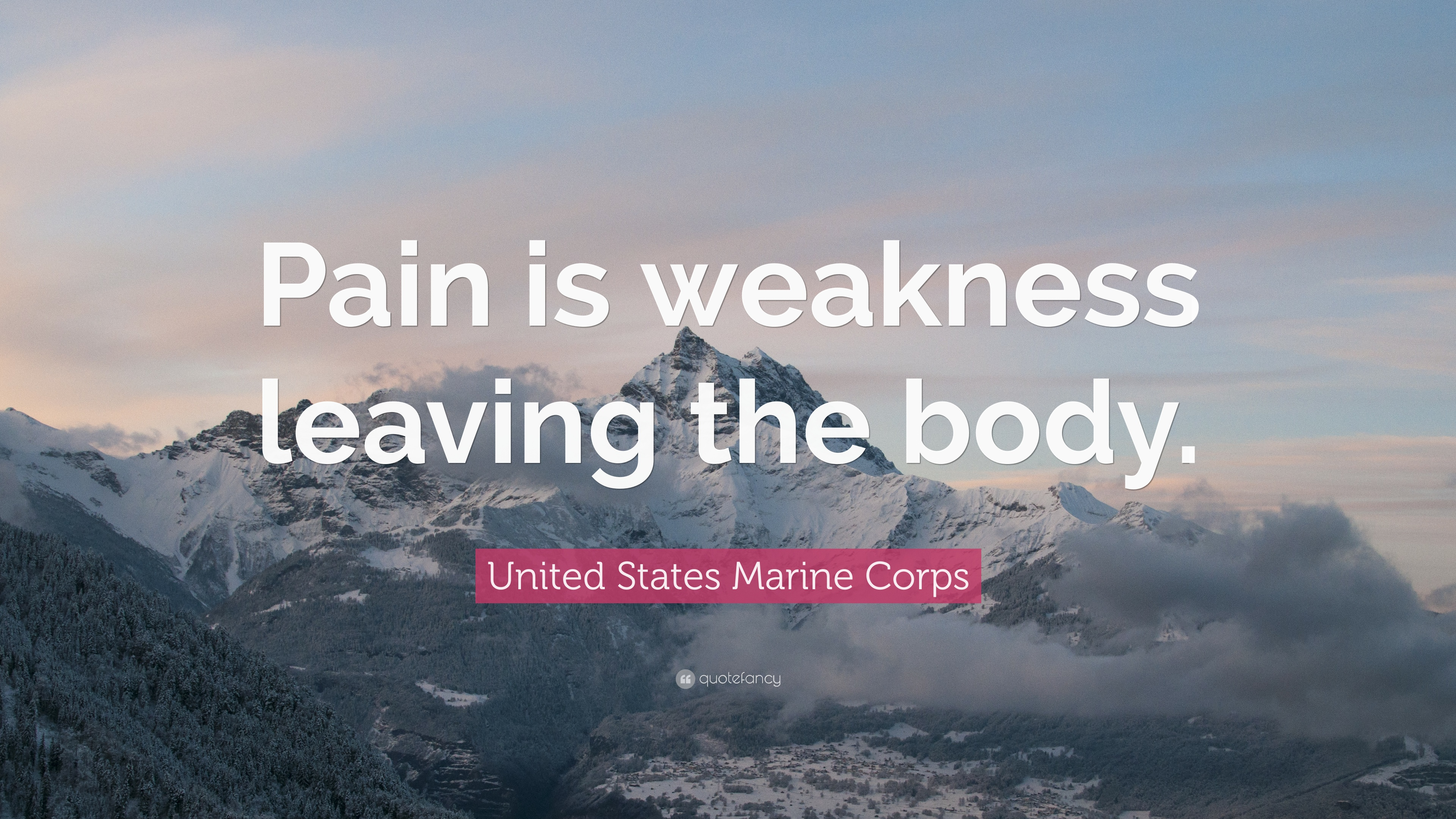 united states marine corps quote   u201cpain is weakness