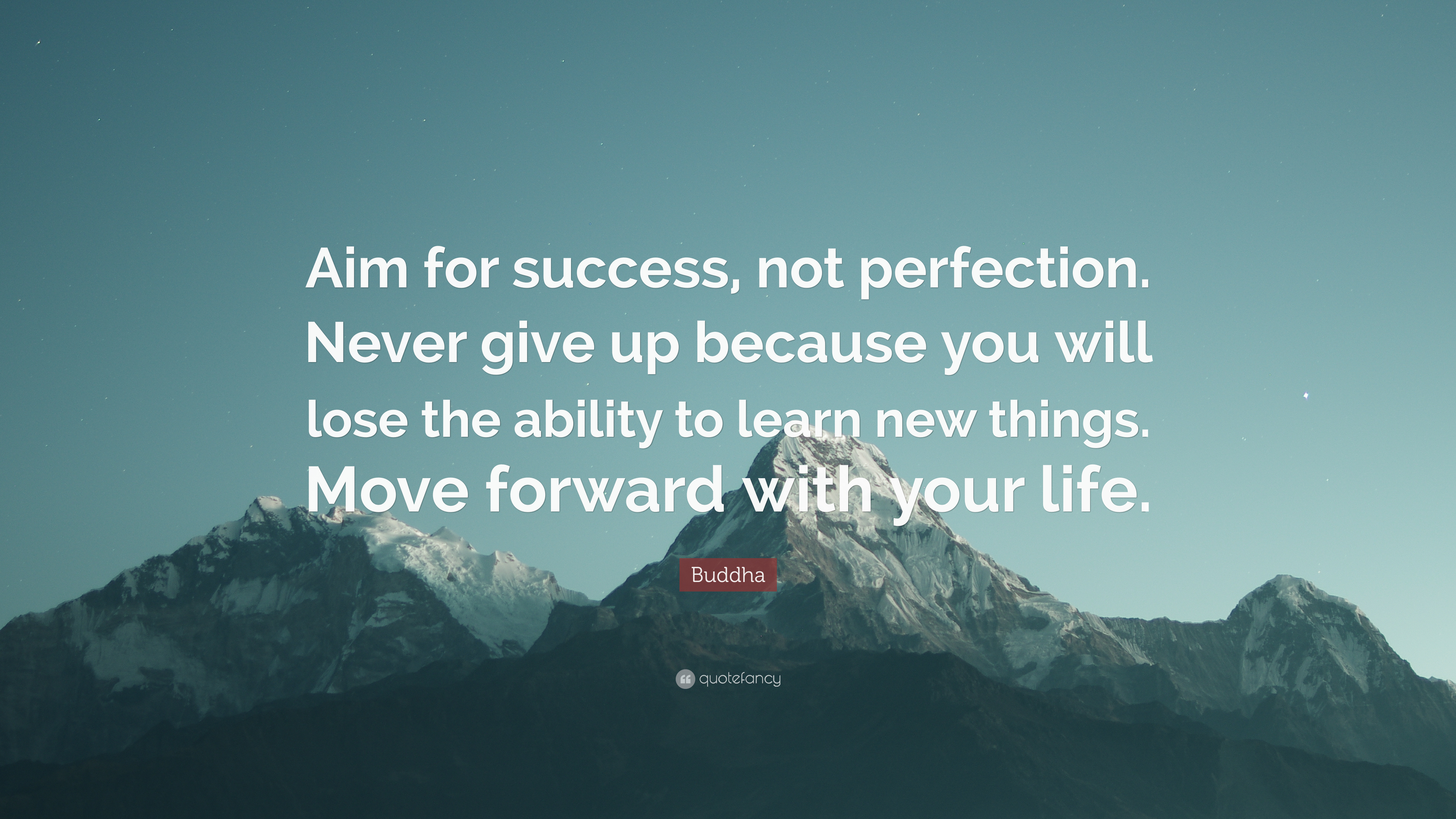 Buddha Quote Aim For Success Not Perfection Never Give Up