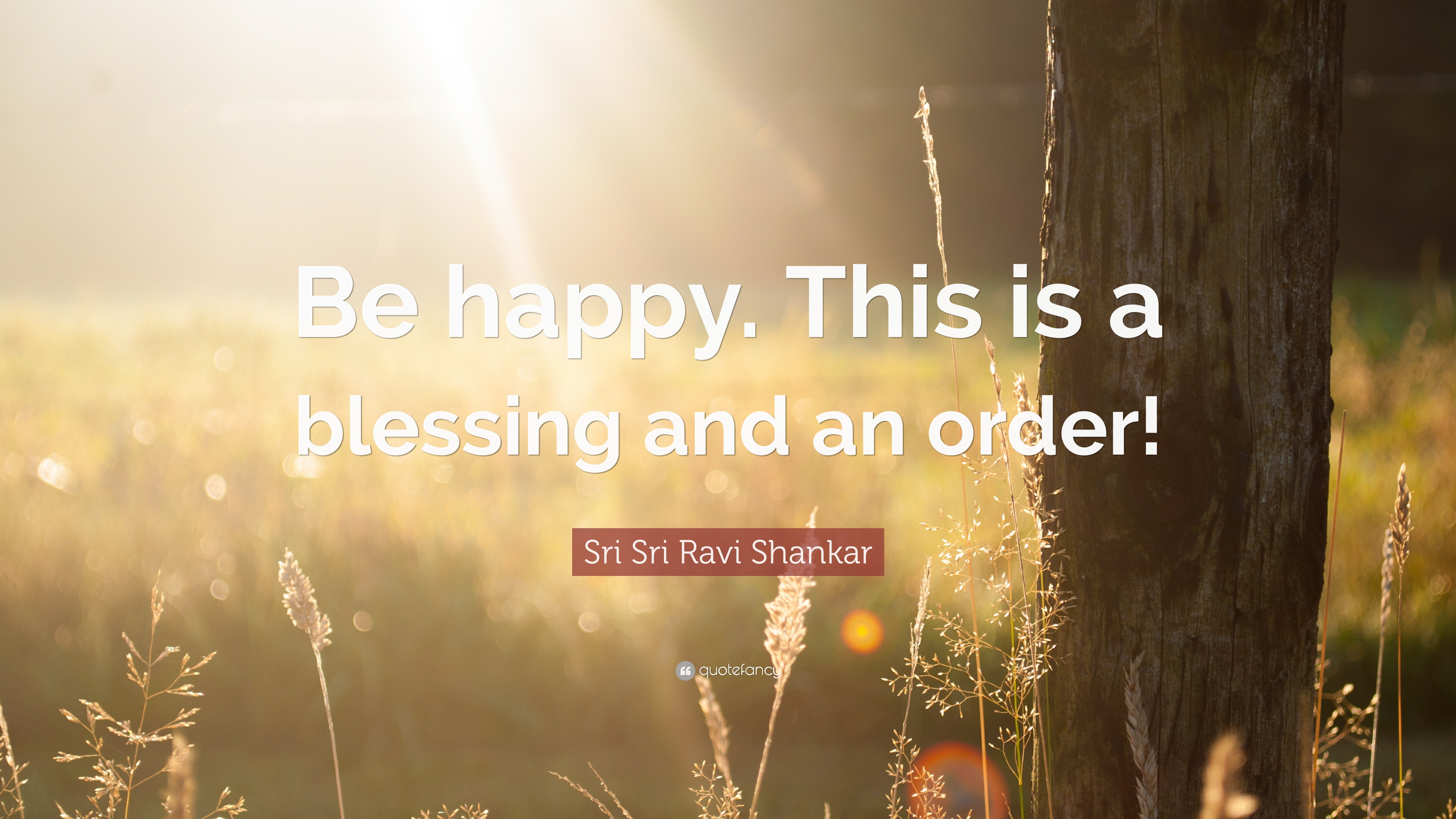 Sri Sri Ravi Shankar Quote Be Happy This Is A Blessing And An