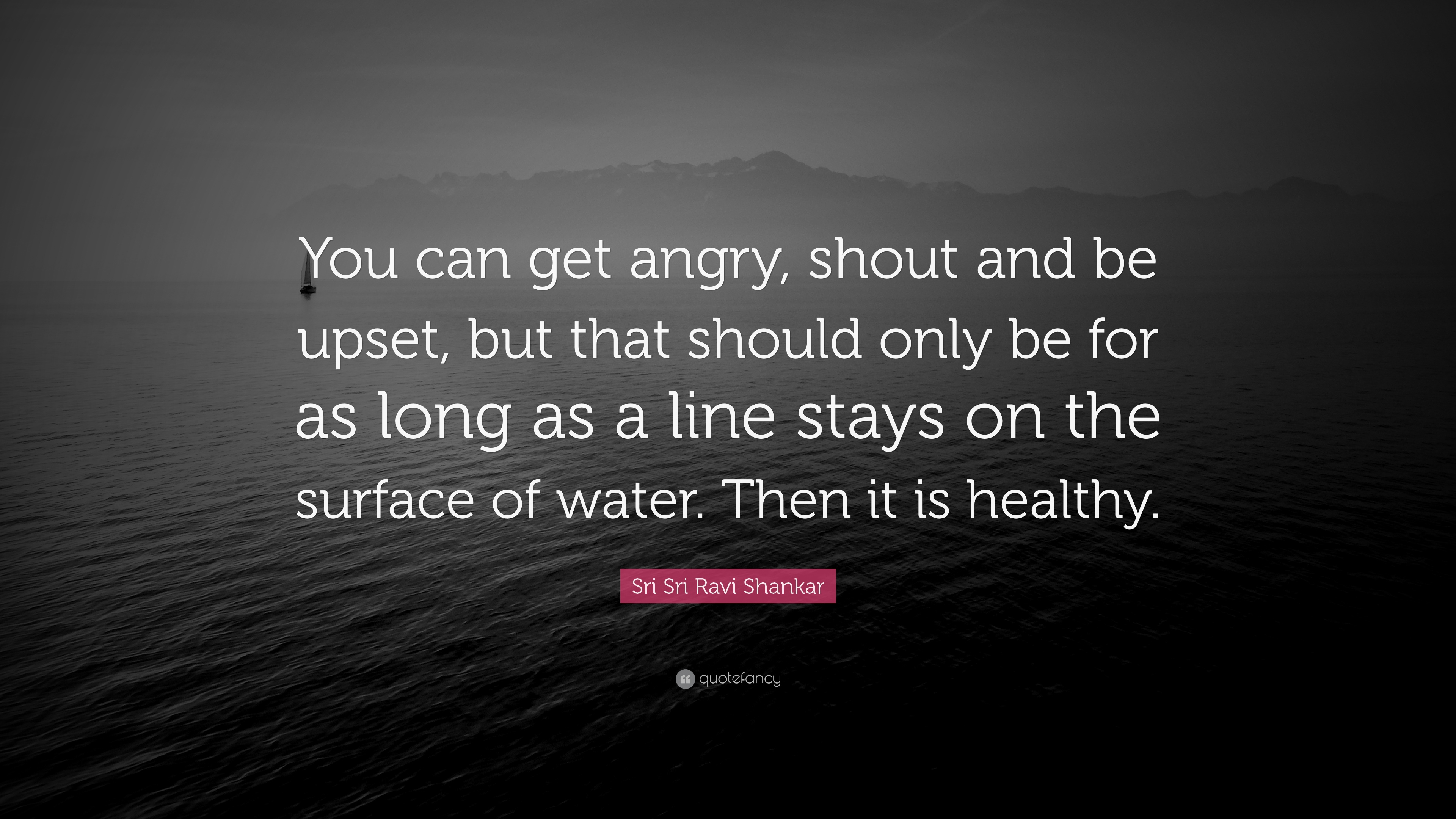 Sri Sri Ravi Shankar Quote You Can Get Angry Shout And Be Upset