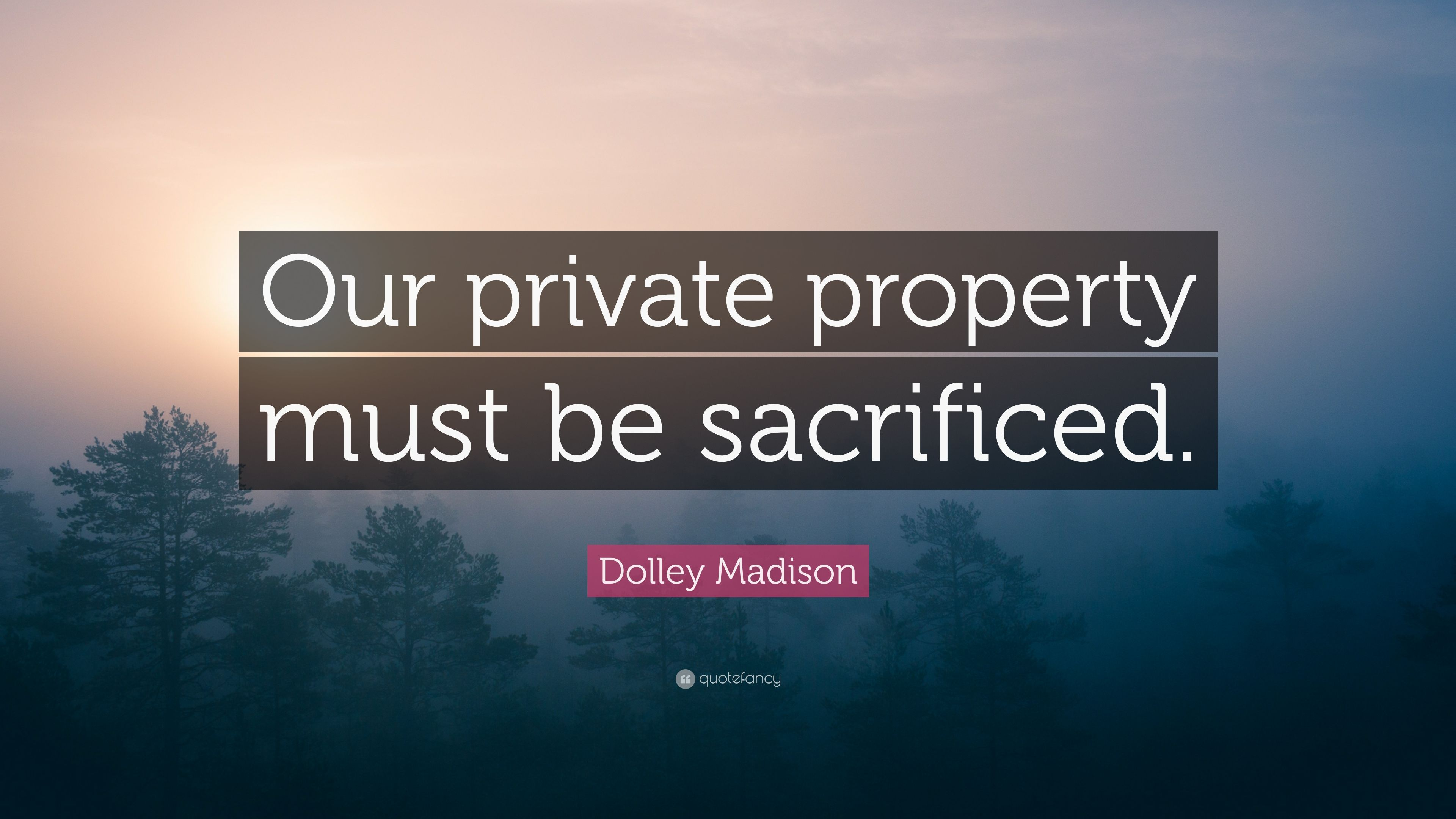 Dolley Madison Quotes | Dolley Madison Quote Our Private Property Must Be Sacrificed 7