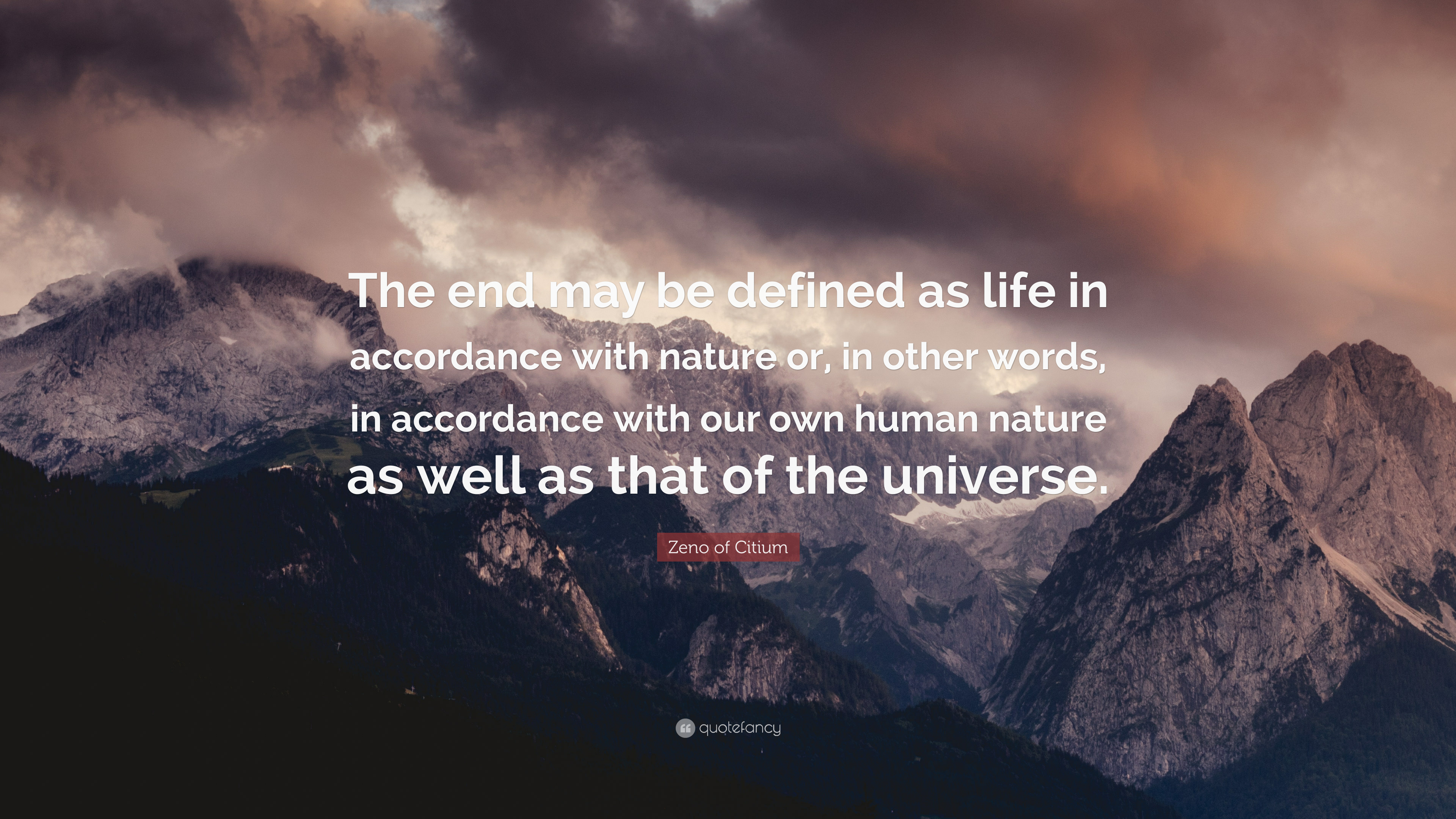 """Zeno Of Citium Quote: """"The End May Be Defined As Life In"""