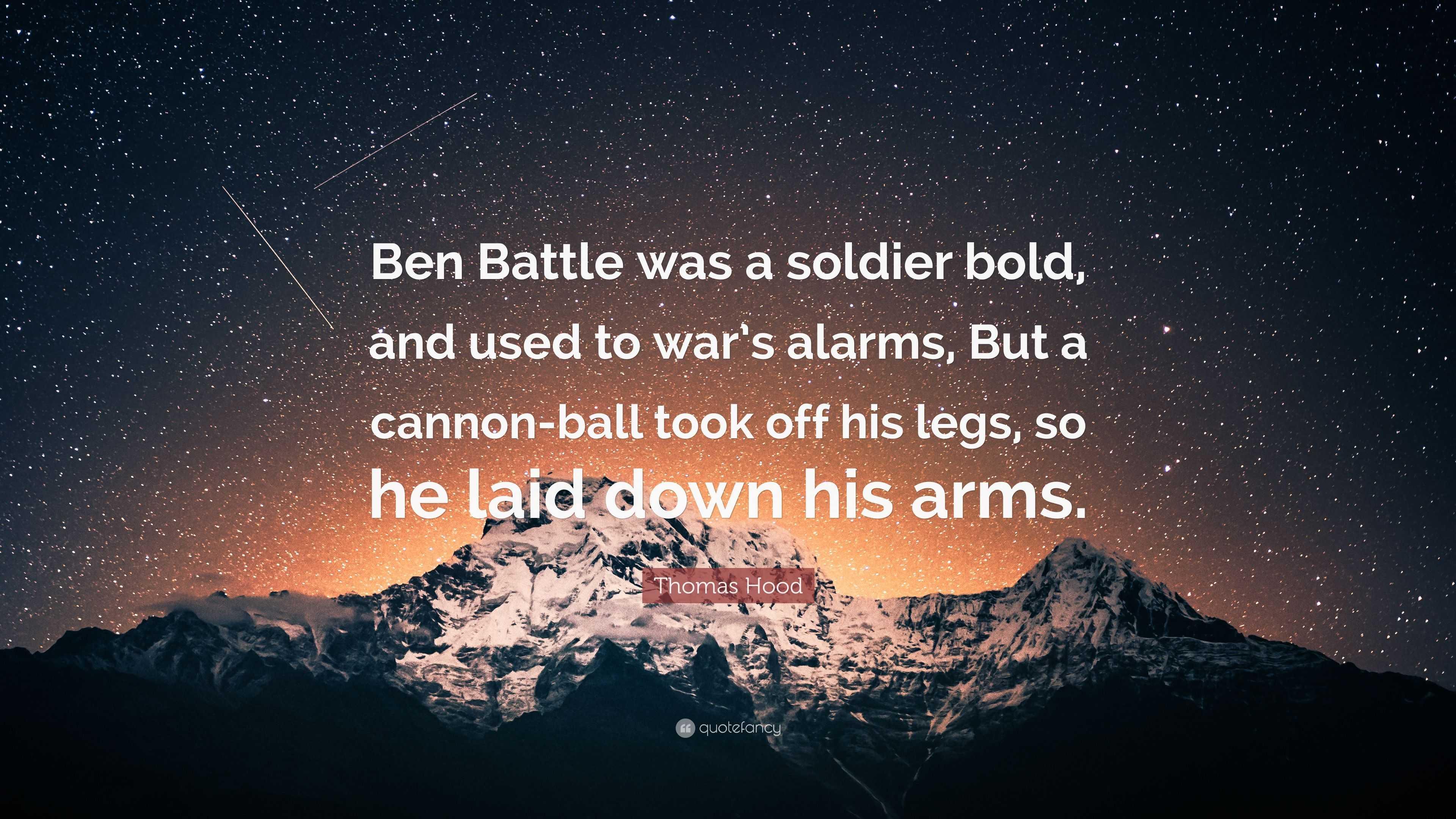 ben battle was a soldier bold
