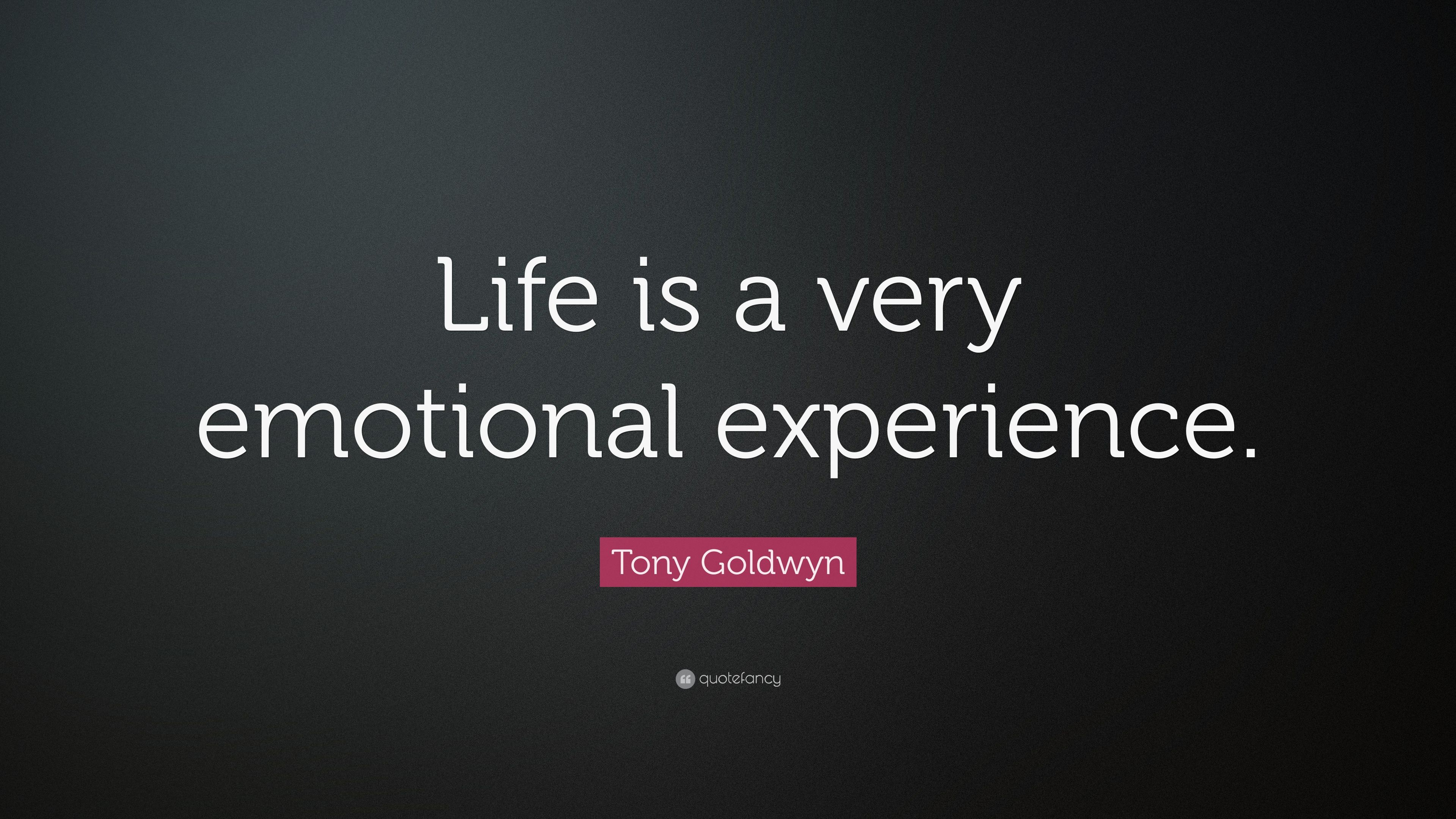 Tony Goldwyn Quote Life Is A Very Emotional Experience 7