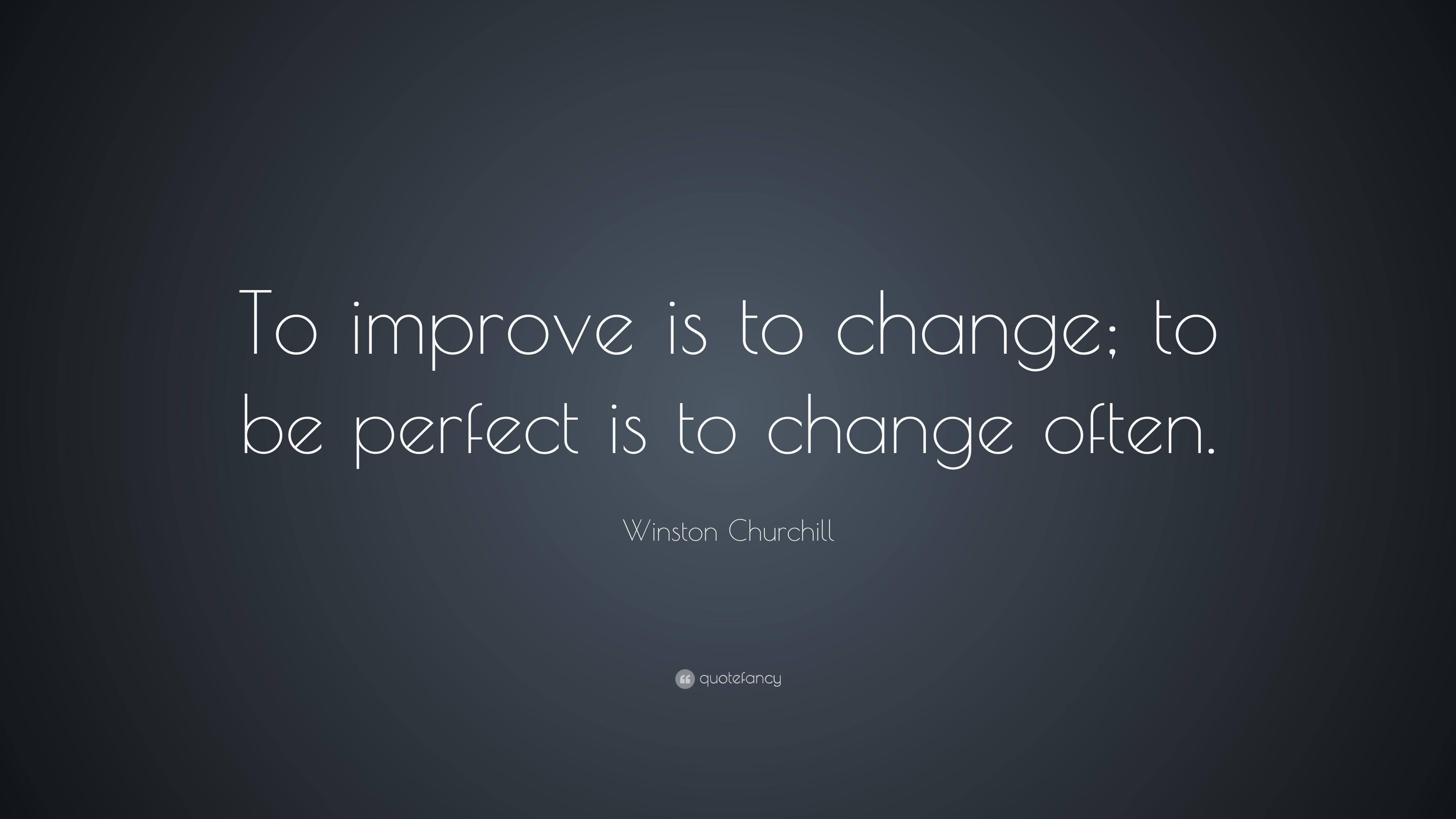 Perfect Winston Churchill Quotes Change