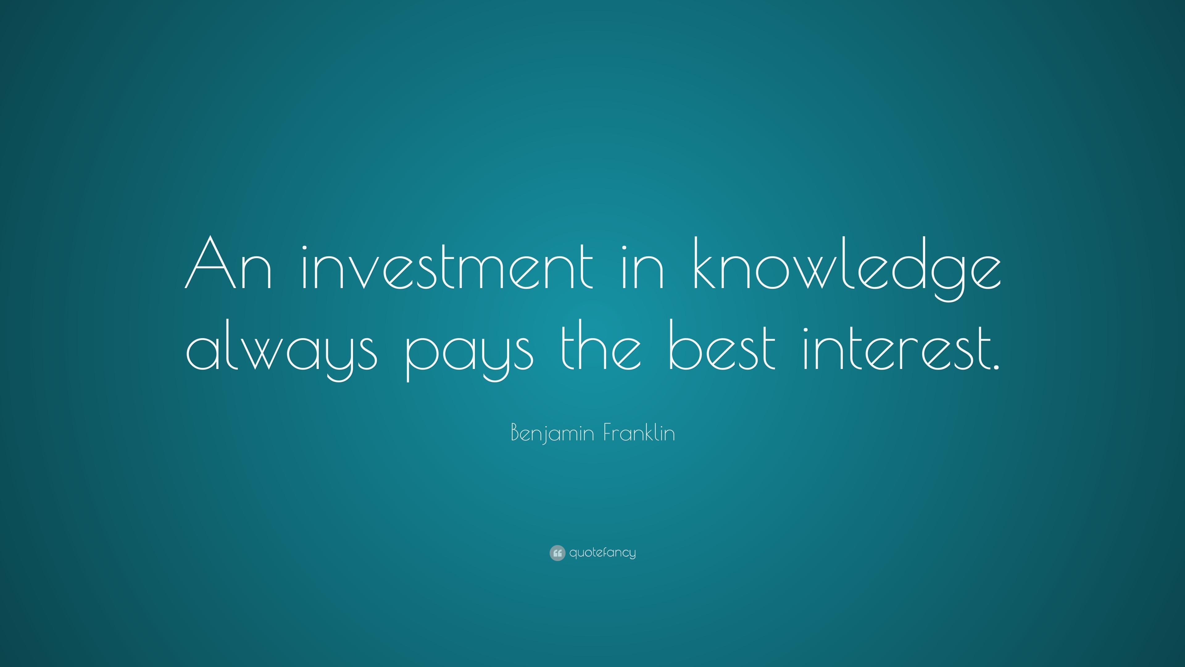 Investment quote