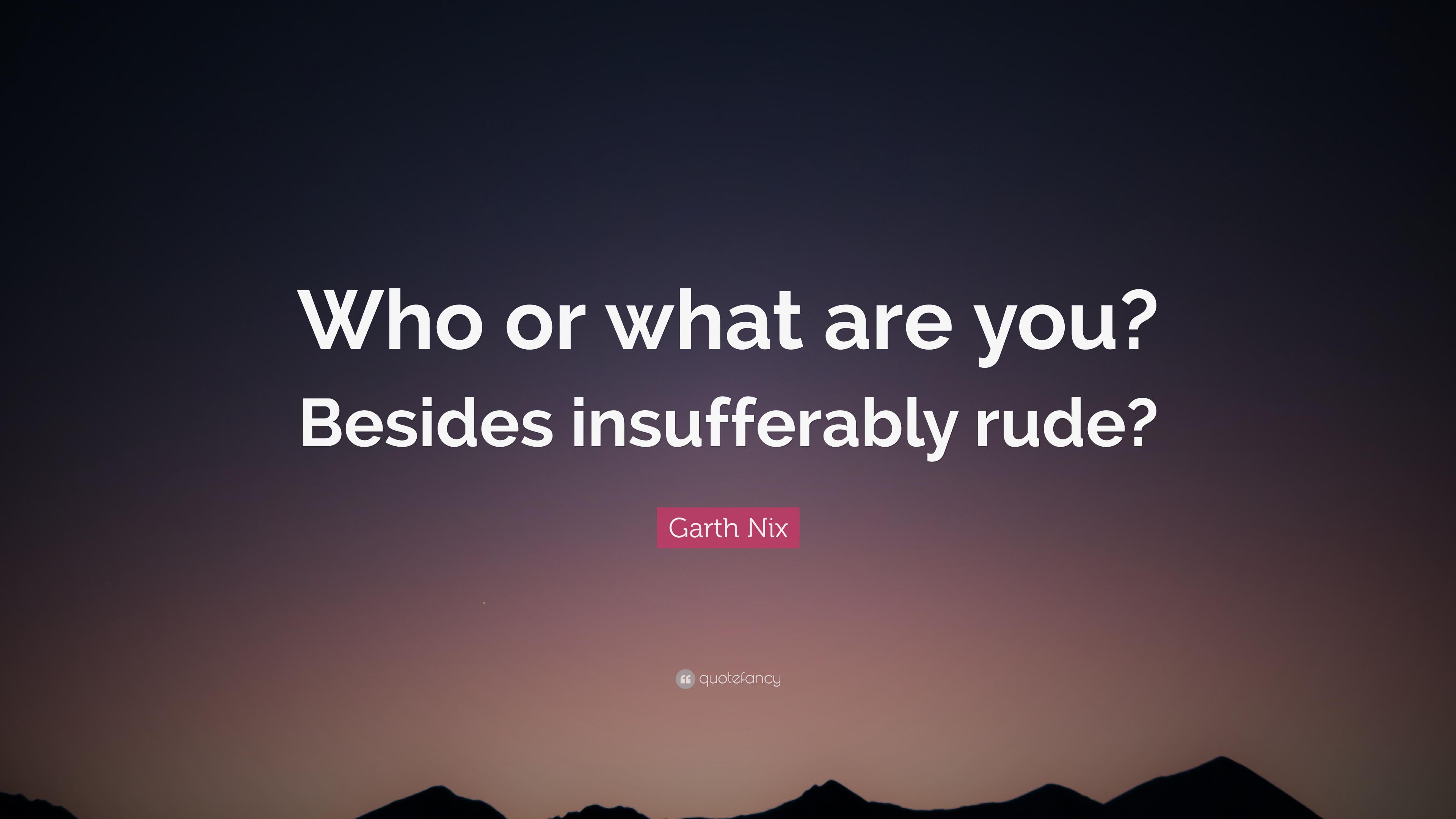 7 Wallpapers Garth Nix Quote Who Or What Are You Besides Insufferably Rude