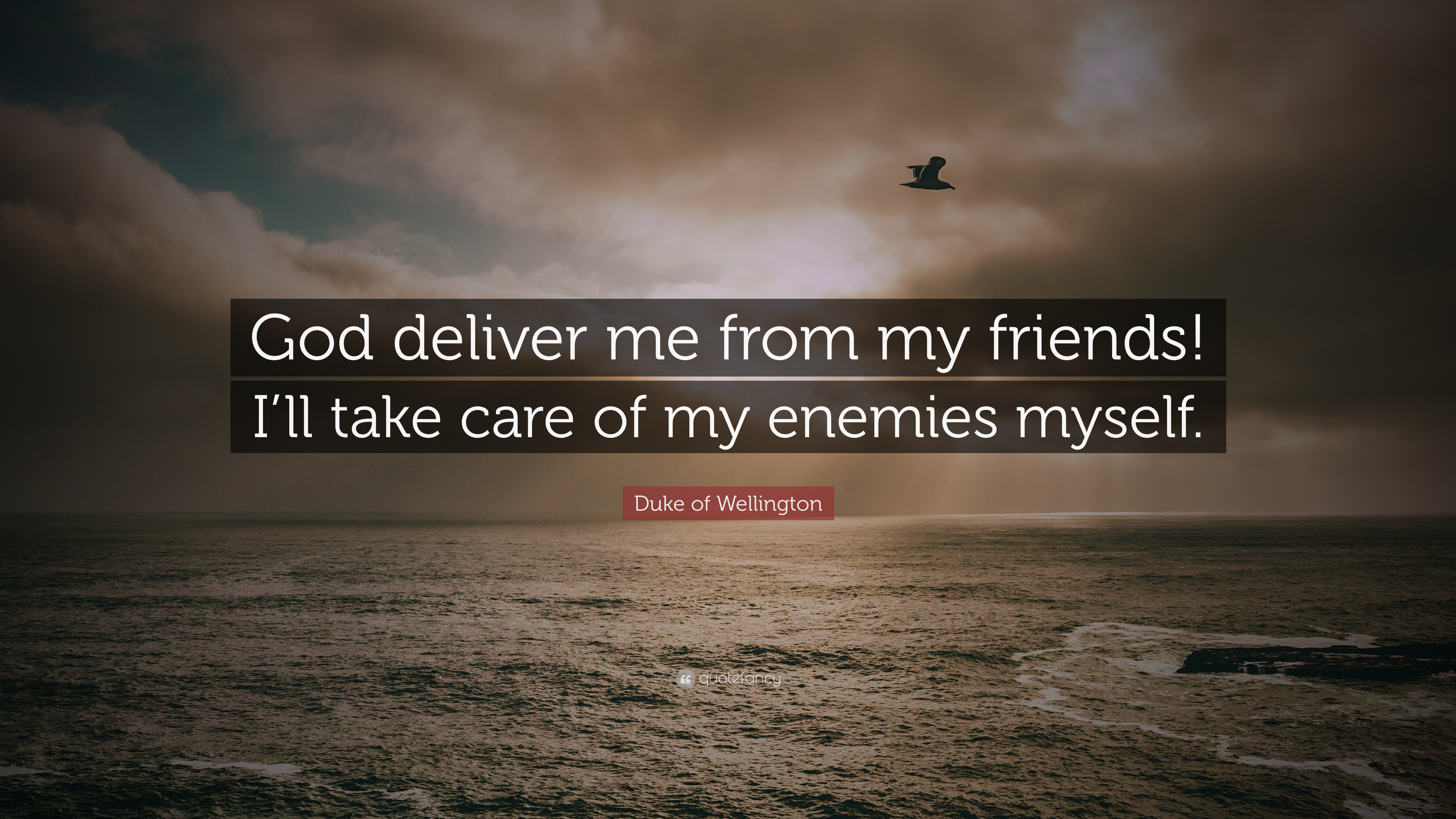 Duke Of Wellington Quote God Deliver Me From My Friends Ill Take