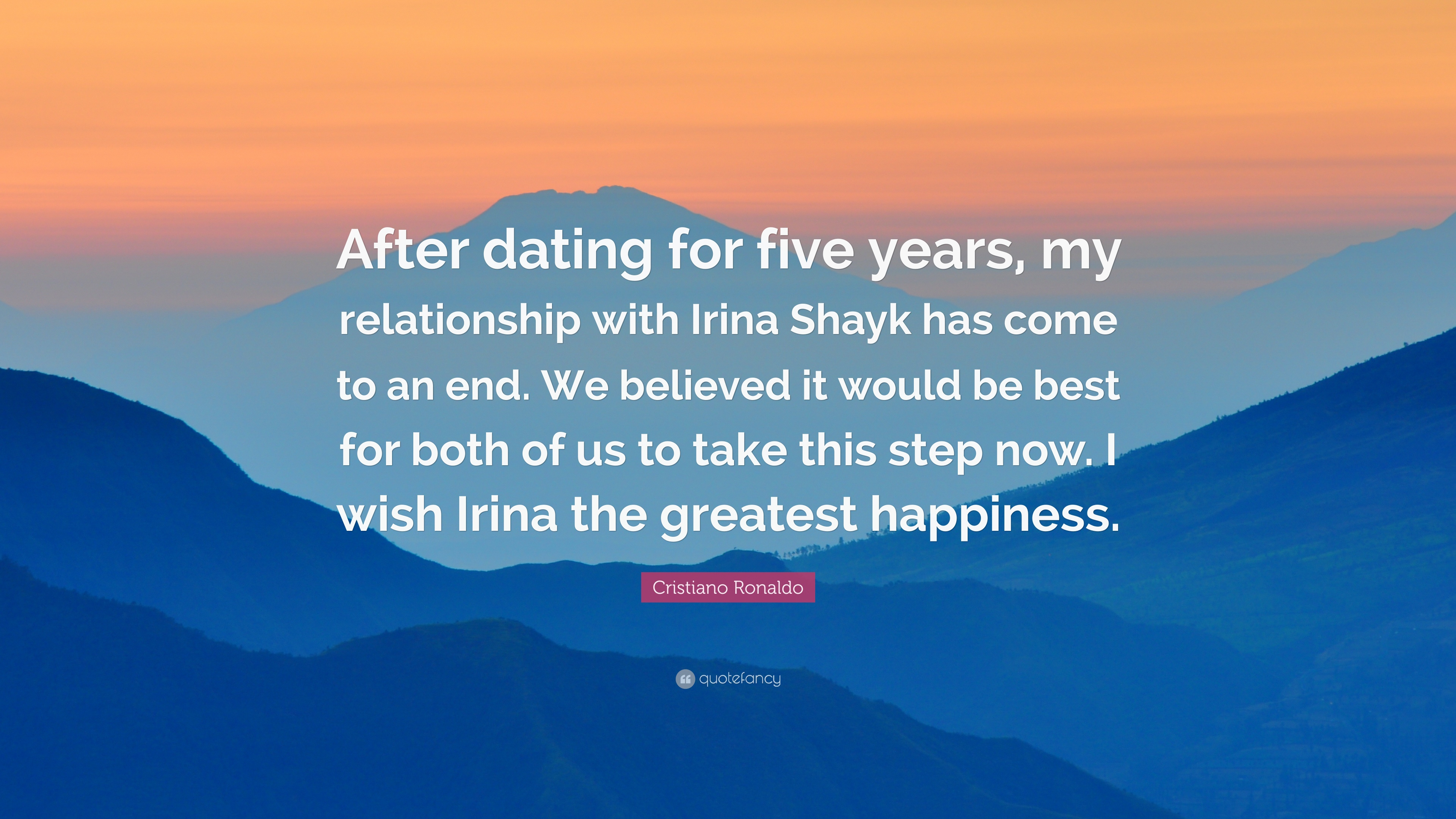 Five years dating