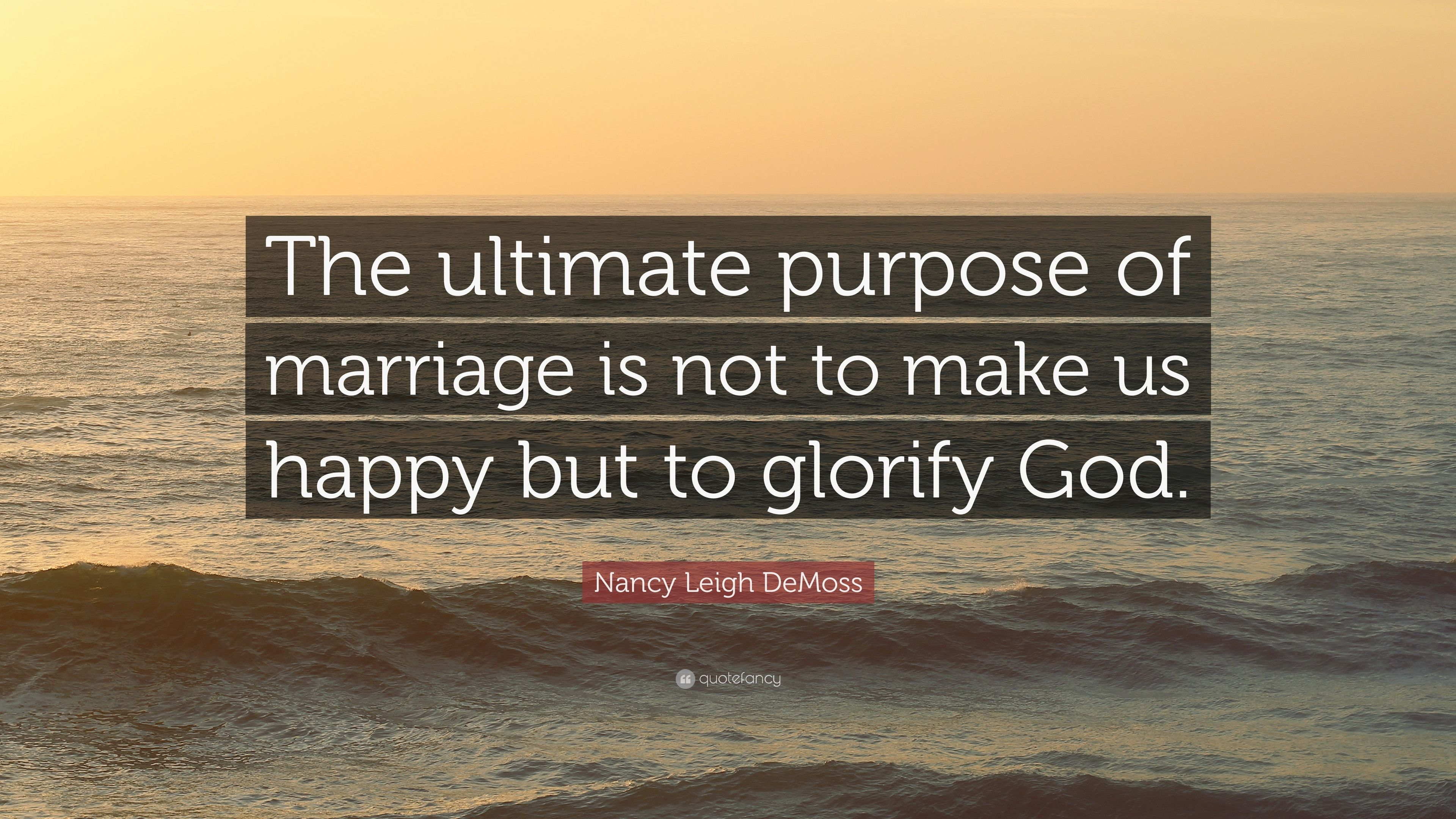 The ultimate purpose marriage