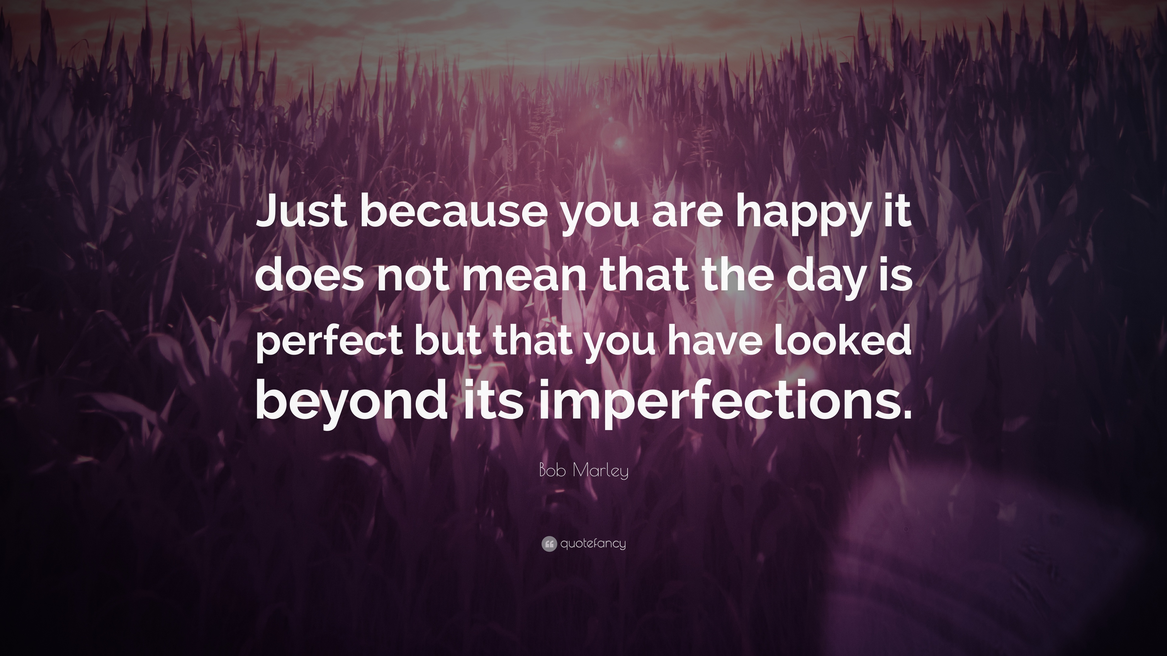 Bob Marley Quote: U201cJust Because You Are Happy It Does Not Mean That The