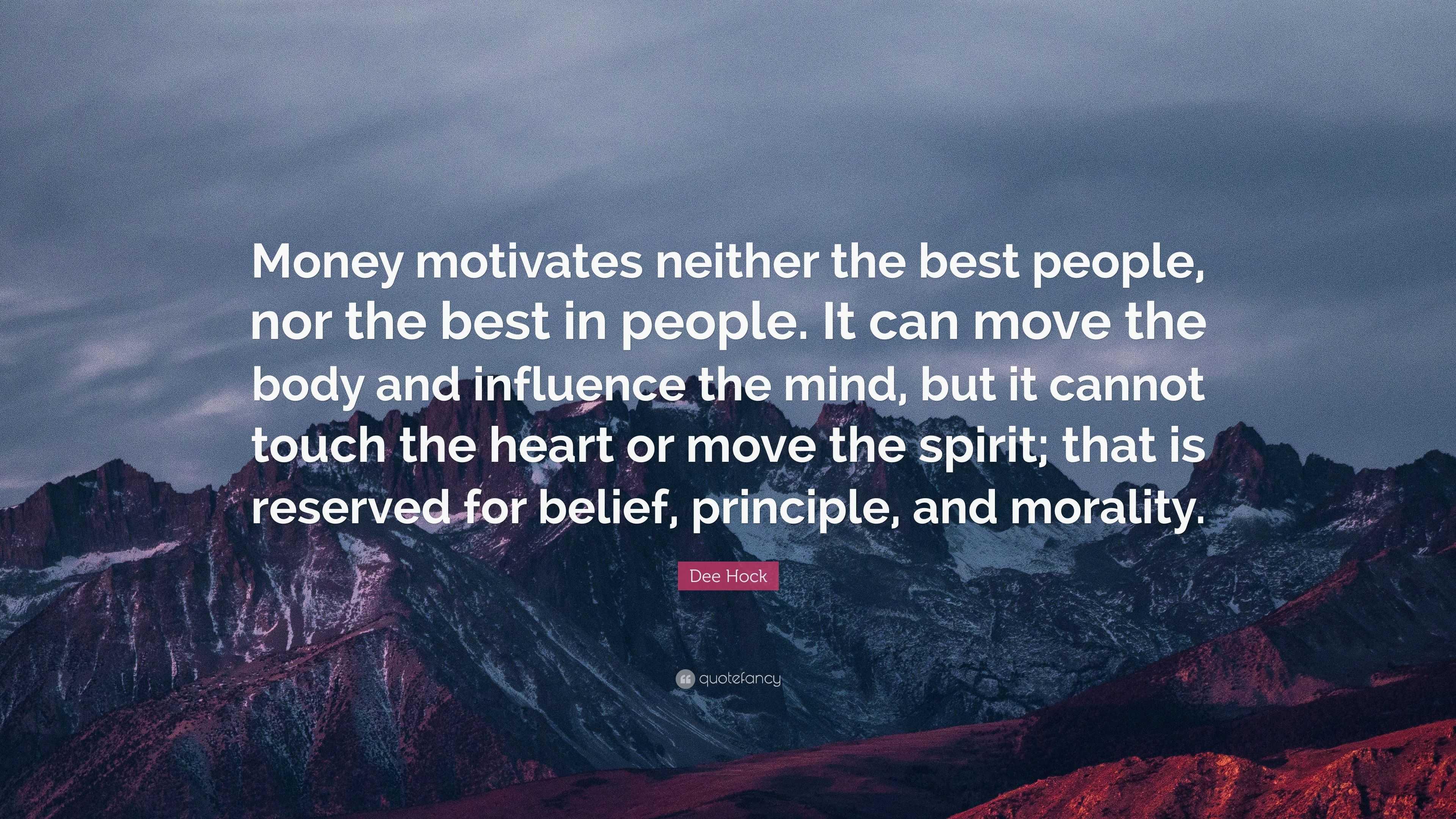 money motivates people