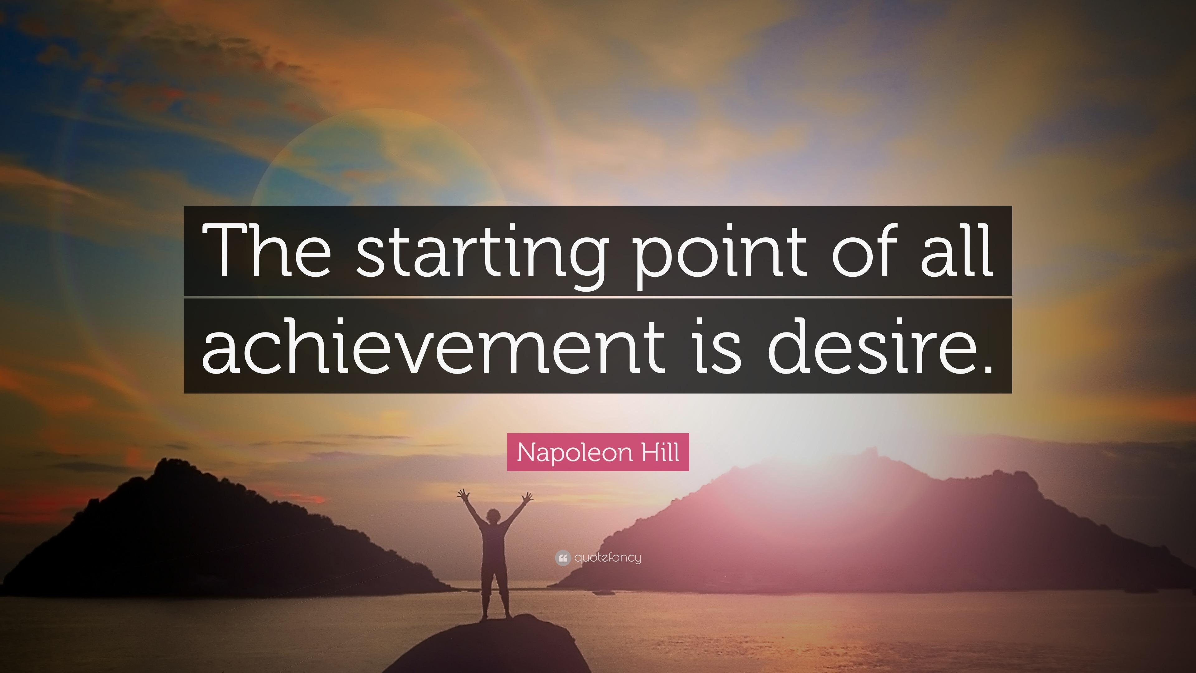 The achievement of desire essay