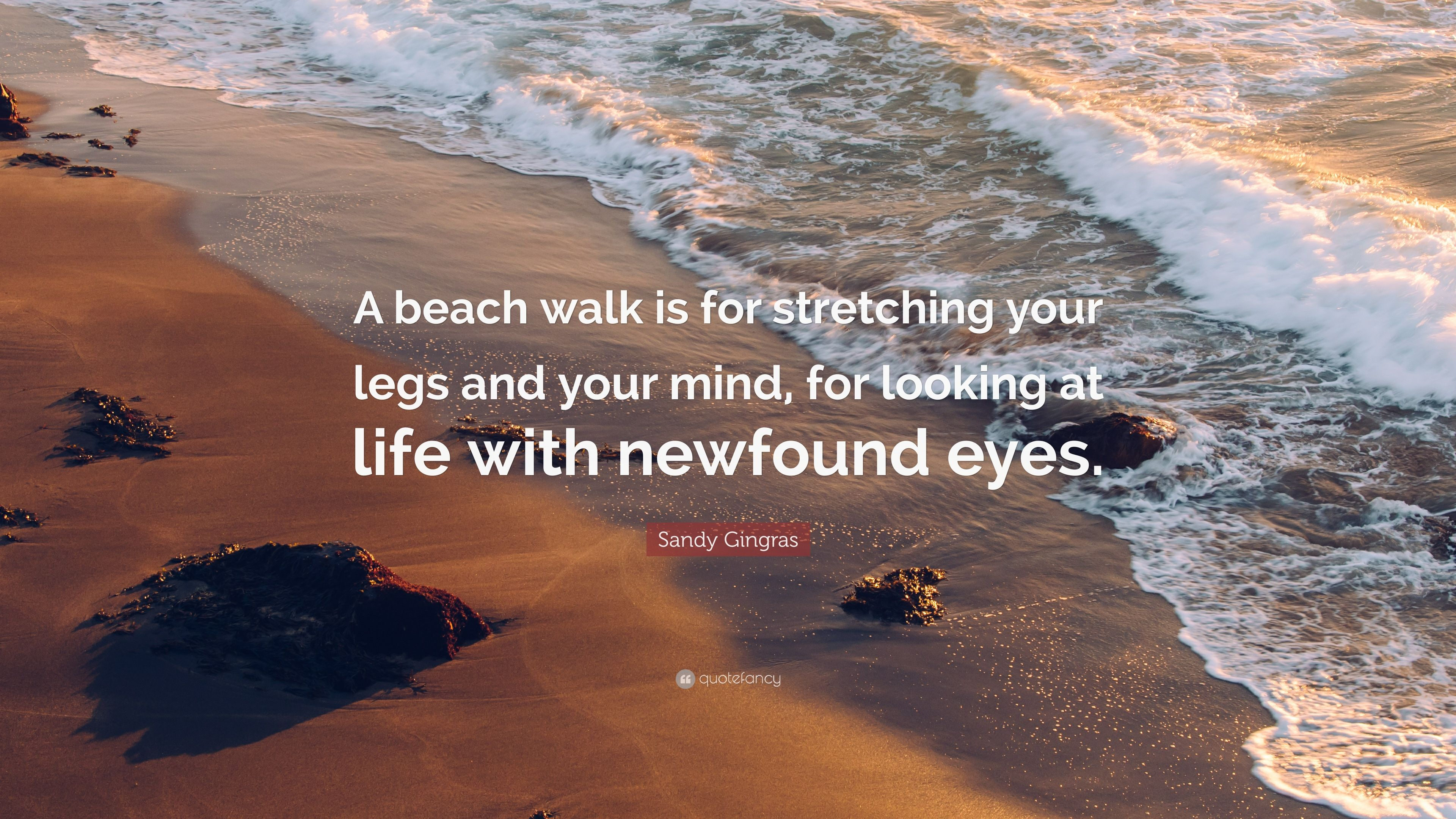 Sandy Gingras Quote: U201cA Beach Walk Is For Stretching Your Legs And Your Mind