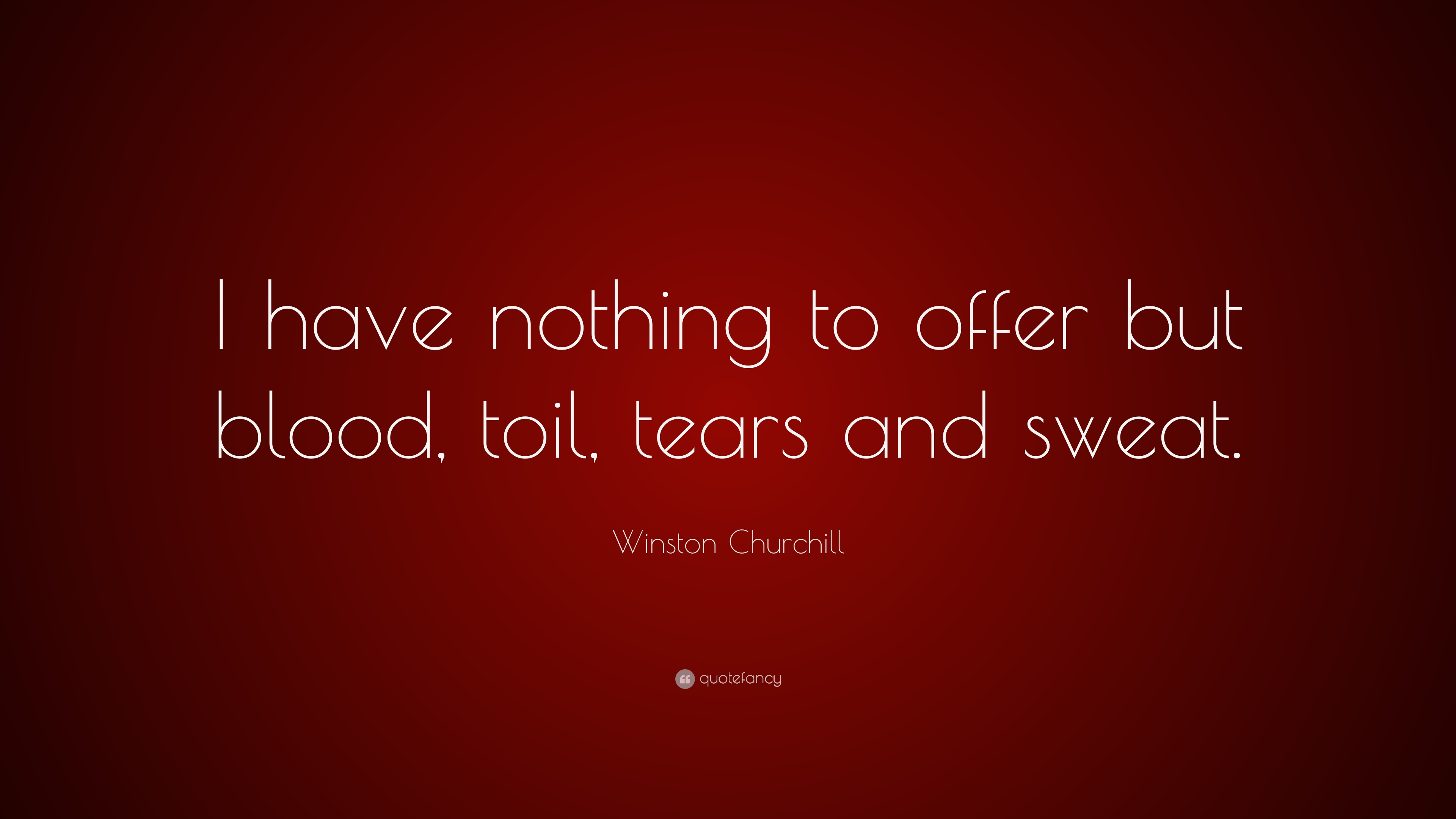 Winston Churchill Quote I Have Nothing To Offer But Blood Toil