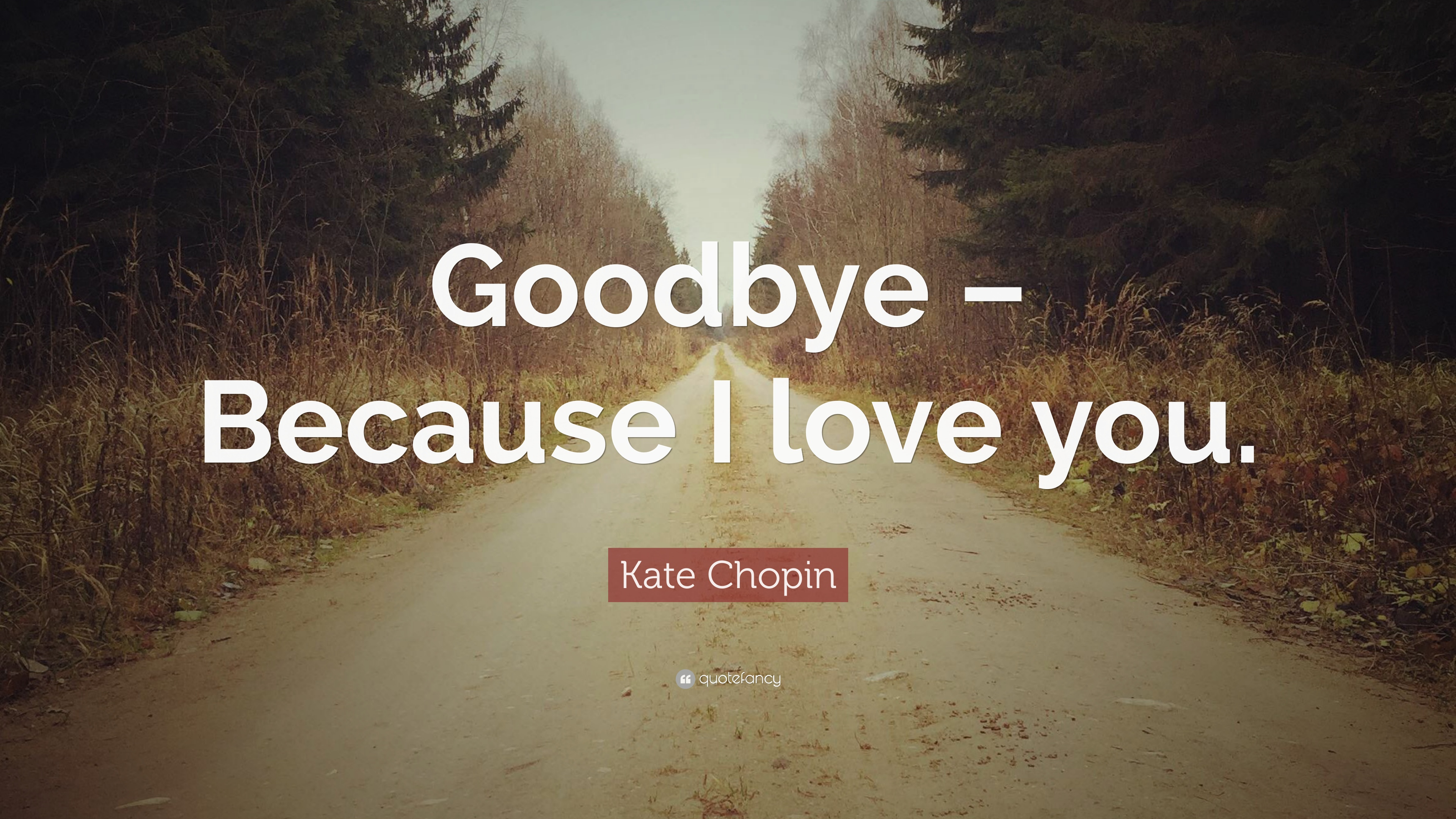 """Kate Chopin Quote: """"Goodbye"""
