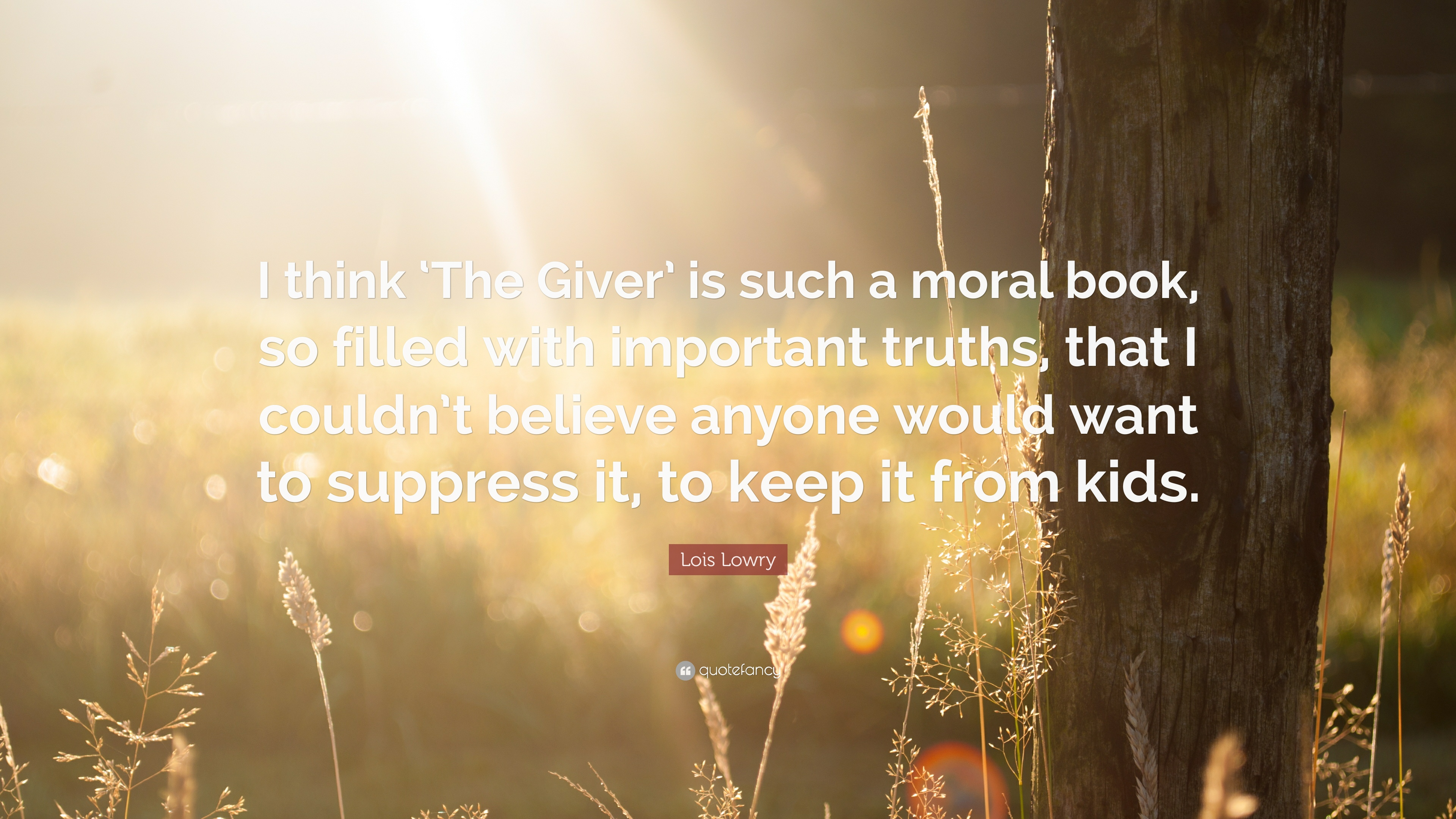 What was the moral in The Giver?
