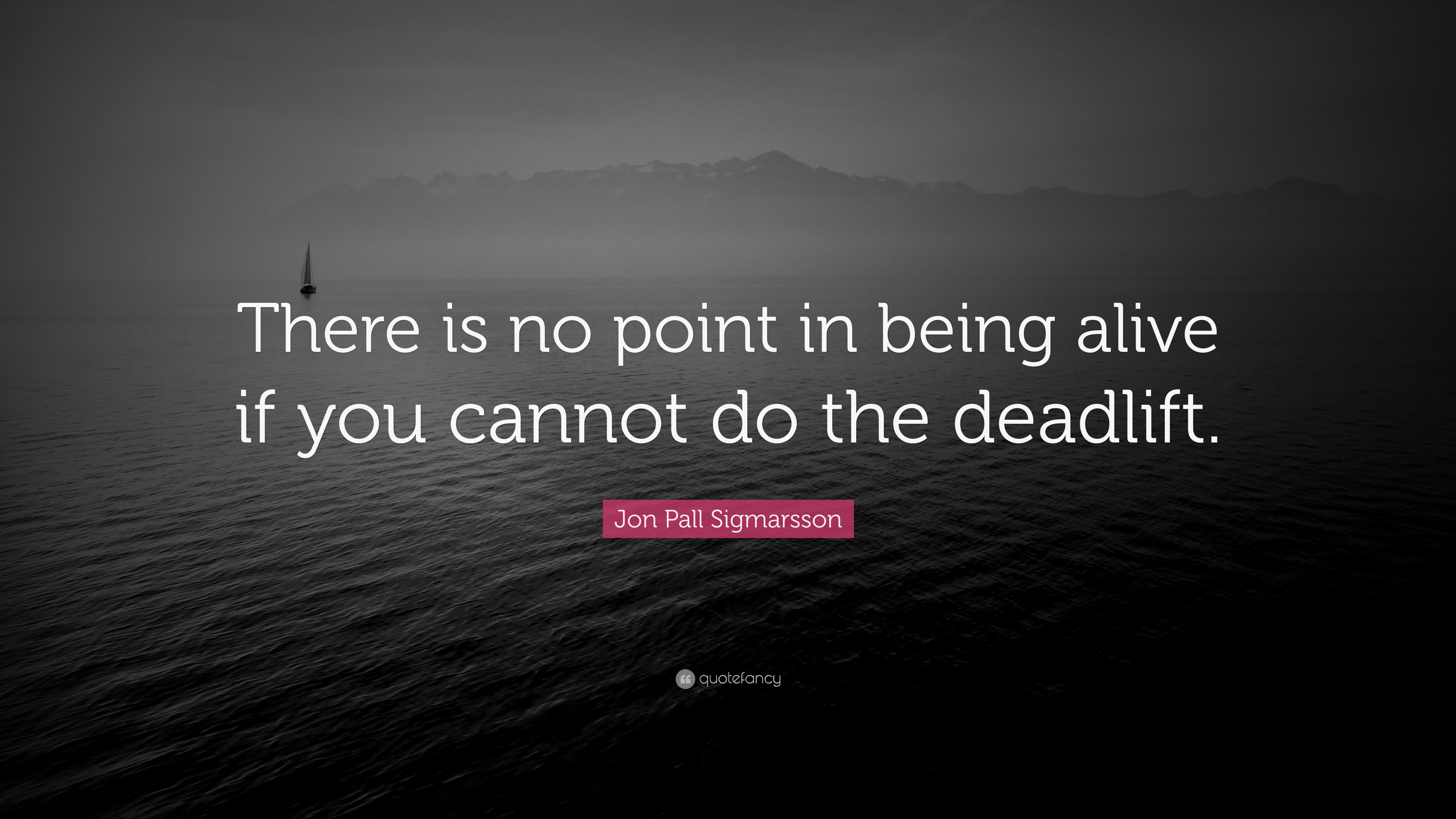 Jon Pall Sigmarsson Quote There Is No Point In Being Alive If You