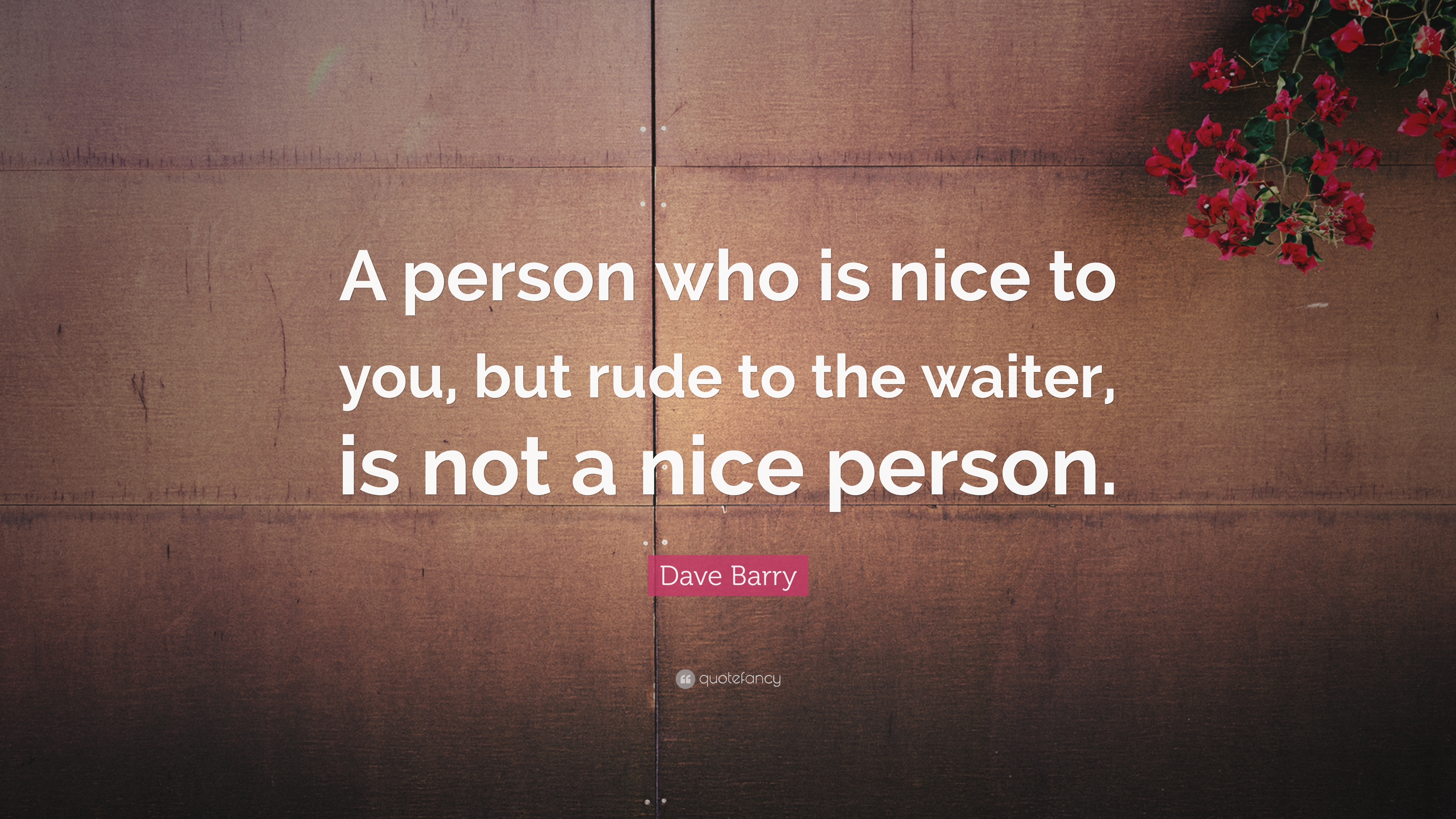 you are a nice person